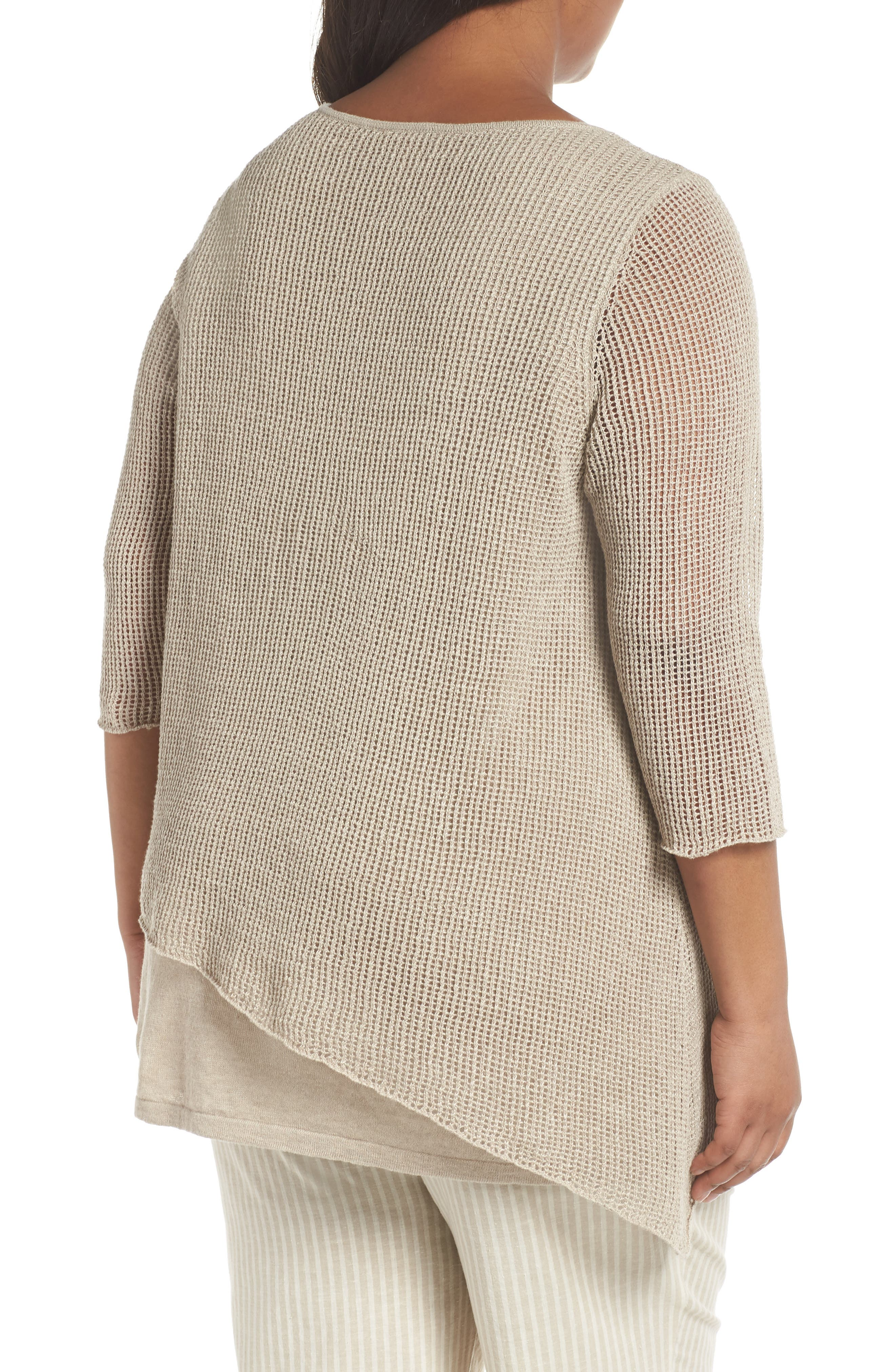 Layered Organic Linen Tunic Sweater,                             Alternate thumbnail 2, color,                             251