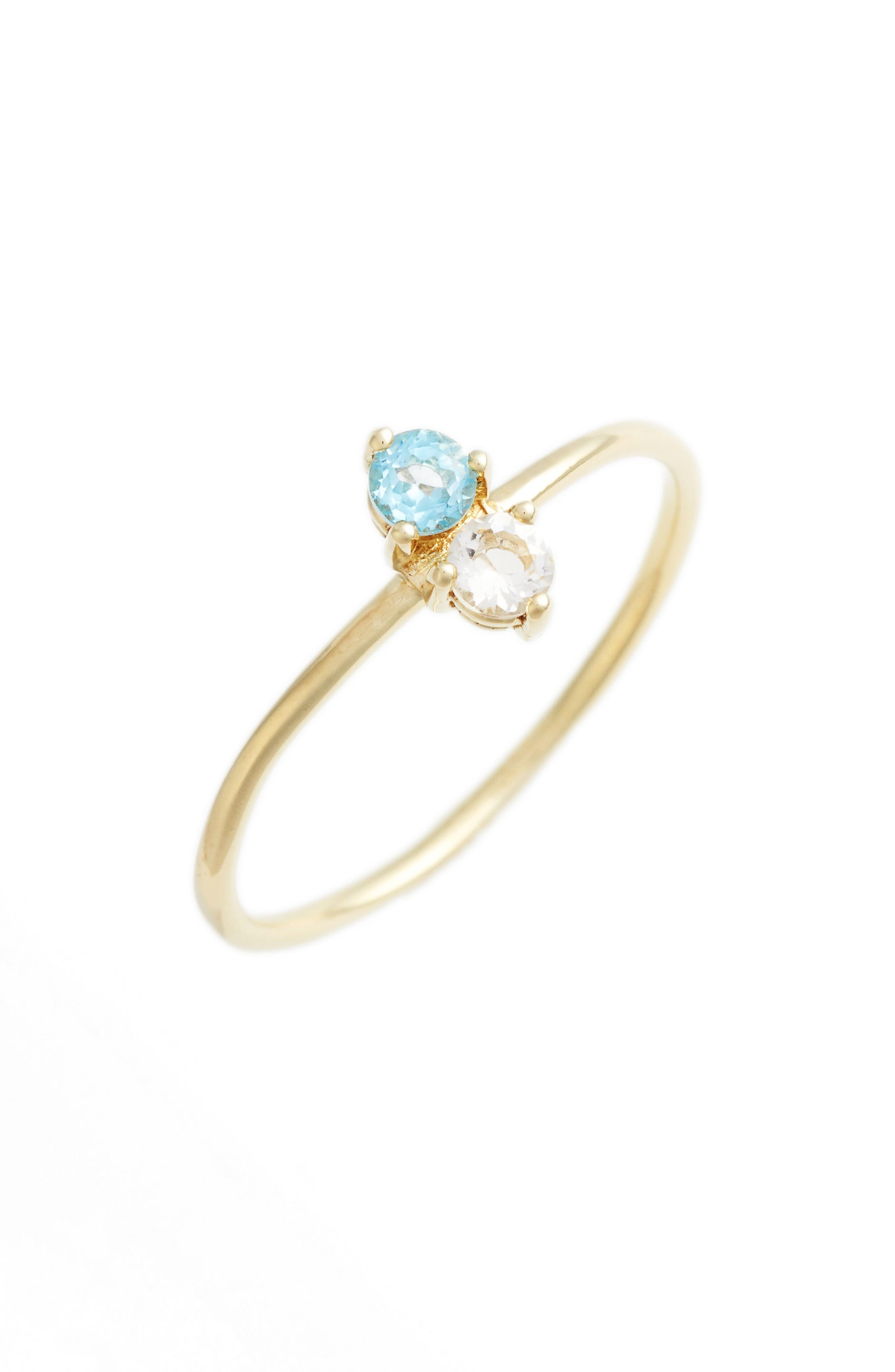 BONY LEVY Birthstone Stacking Ring, Main, color, DECEMBER/ BLUE TOPAZ