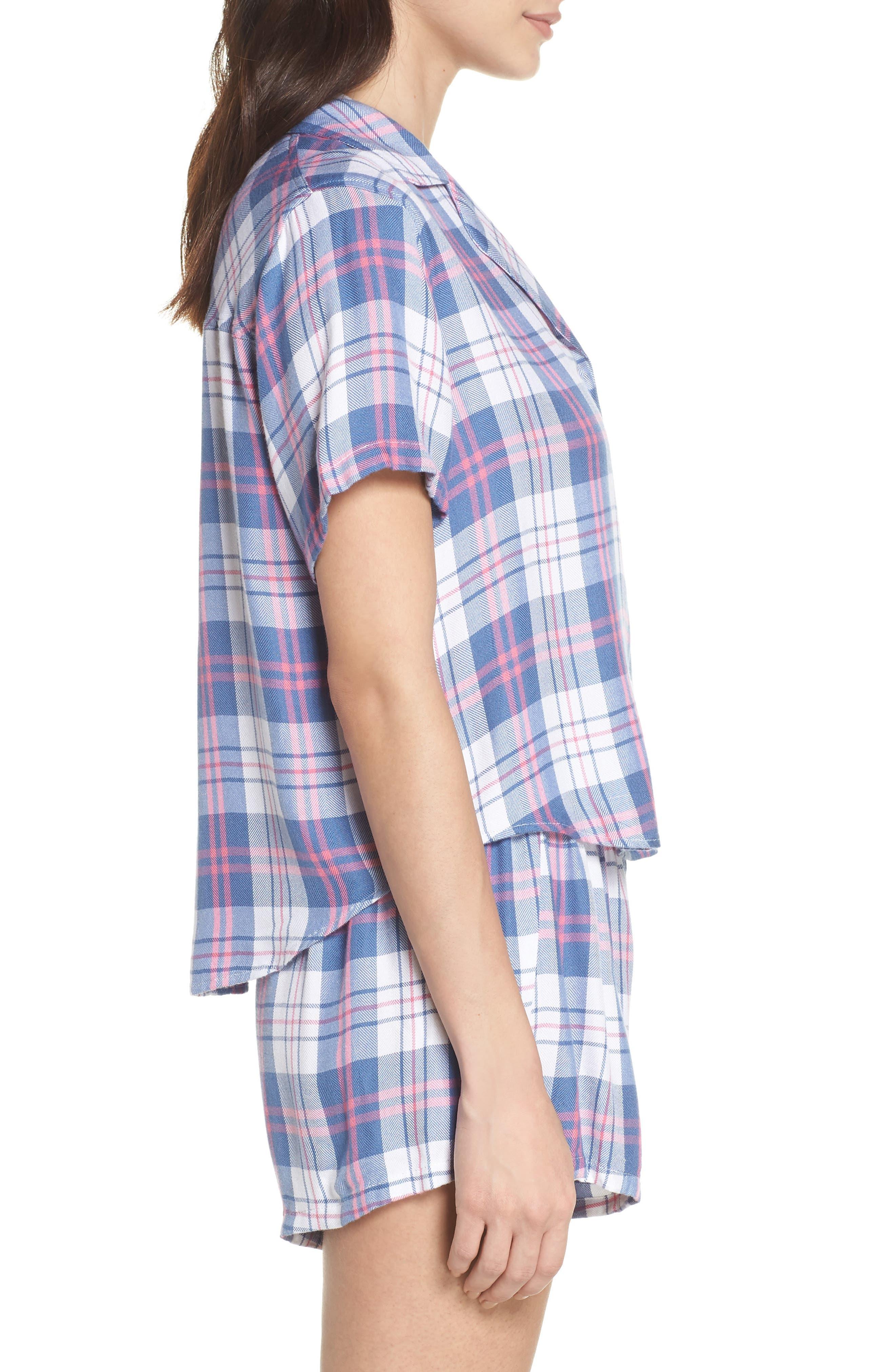 Plaid Short Pajamas,                             Alternate thumbnail 3, color,                             400