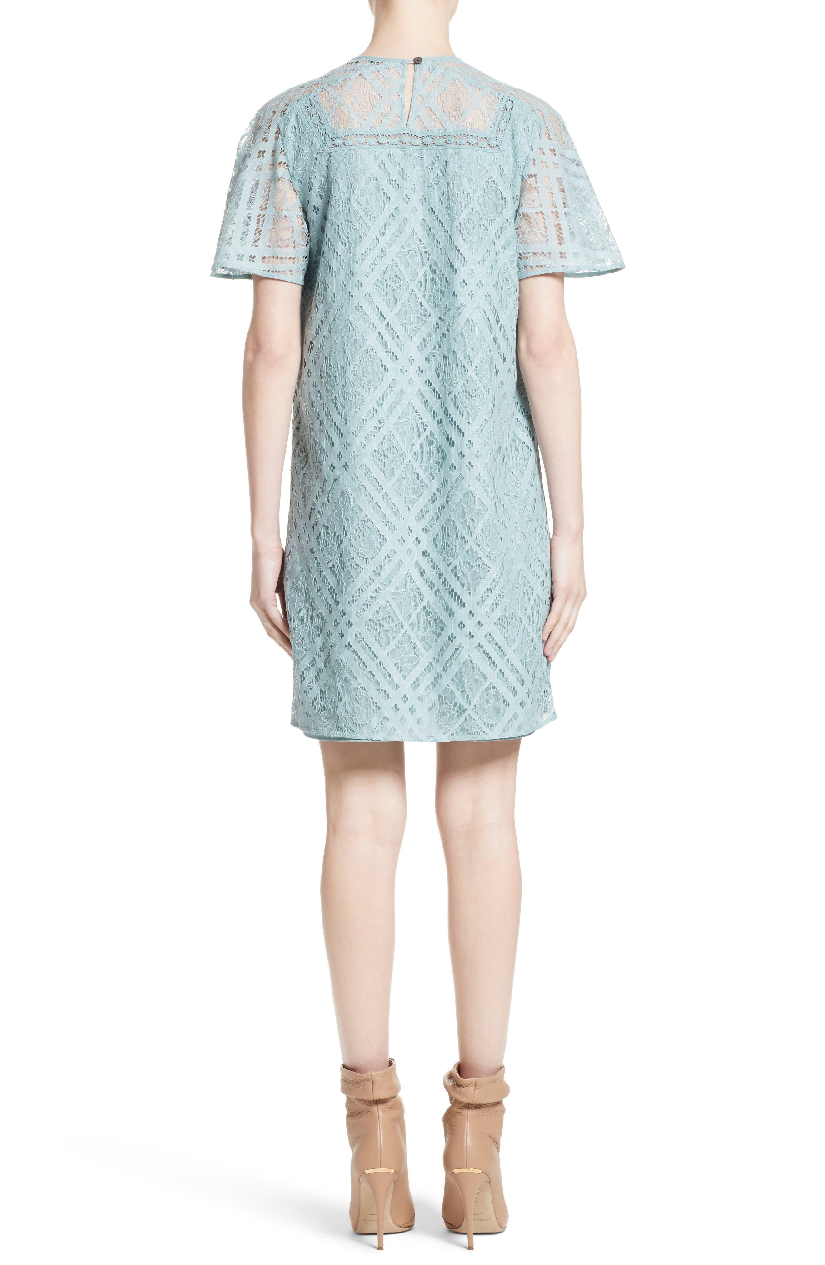 Keri Floral Check Lace Dress,                             Alternate thumbnail 2, color,                             450