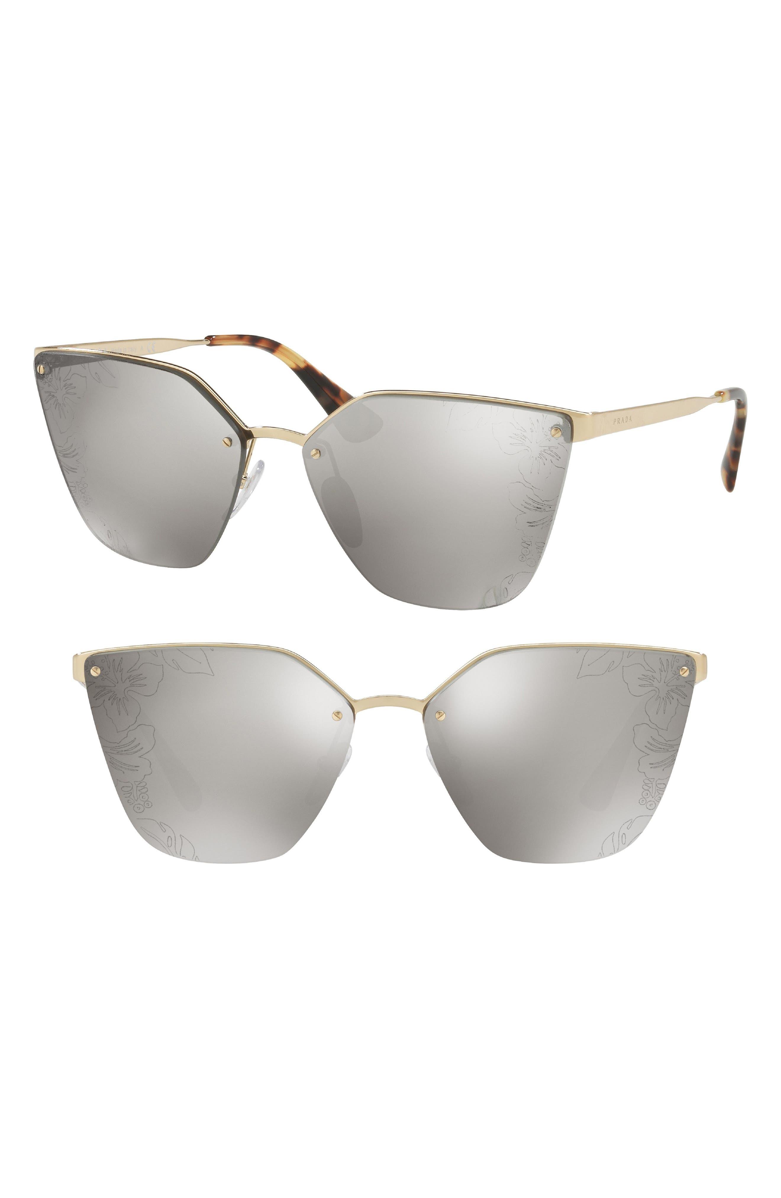 Cinéma 63mm Oversize Rimless Sunglasses,                             Main thumbnail 1, color,                             040