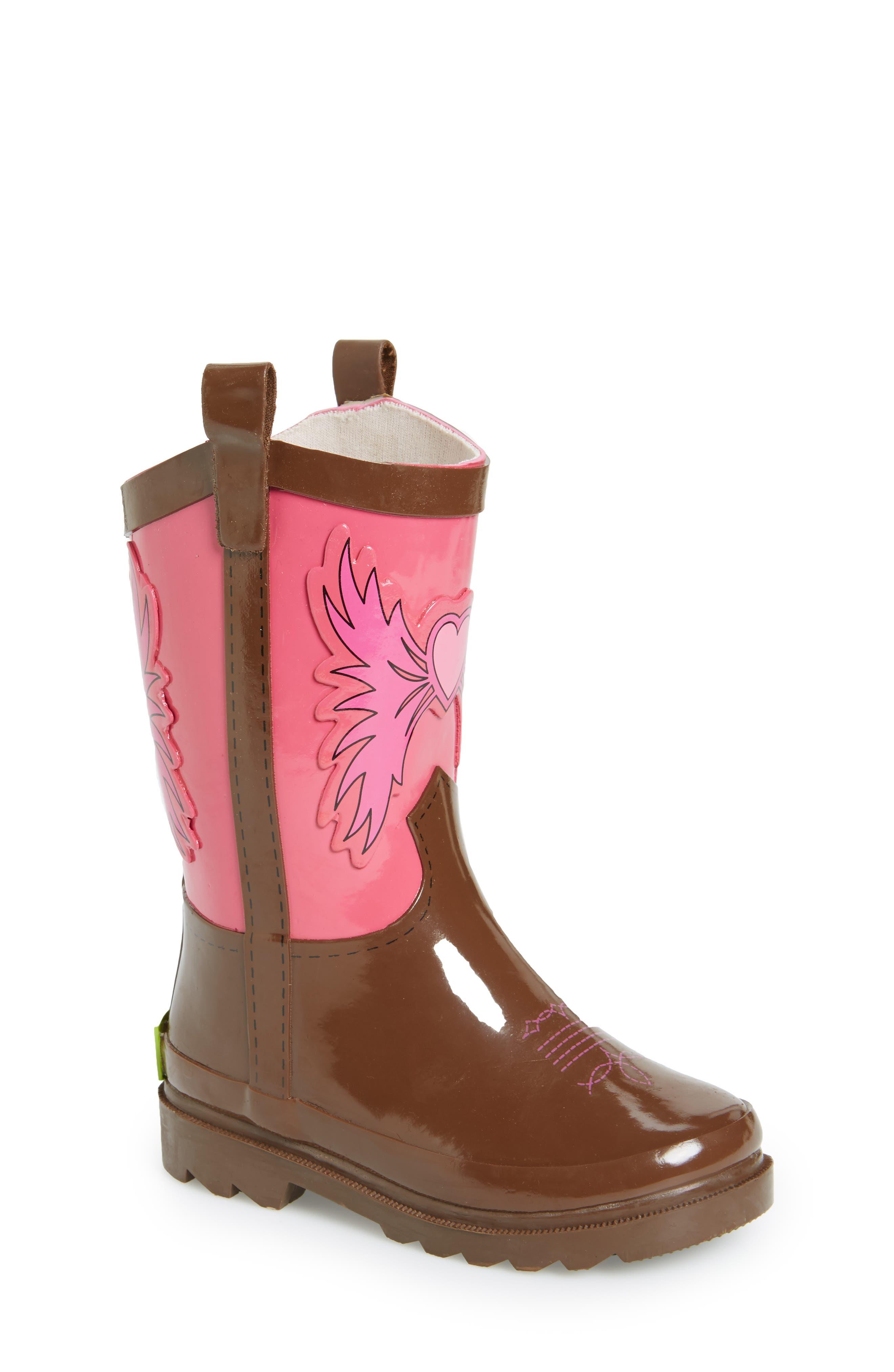 Cowgirl Waterproof Rain Boot,                         Main,                         color, 680