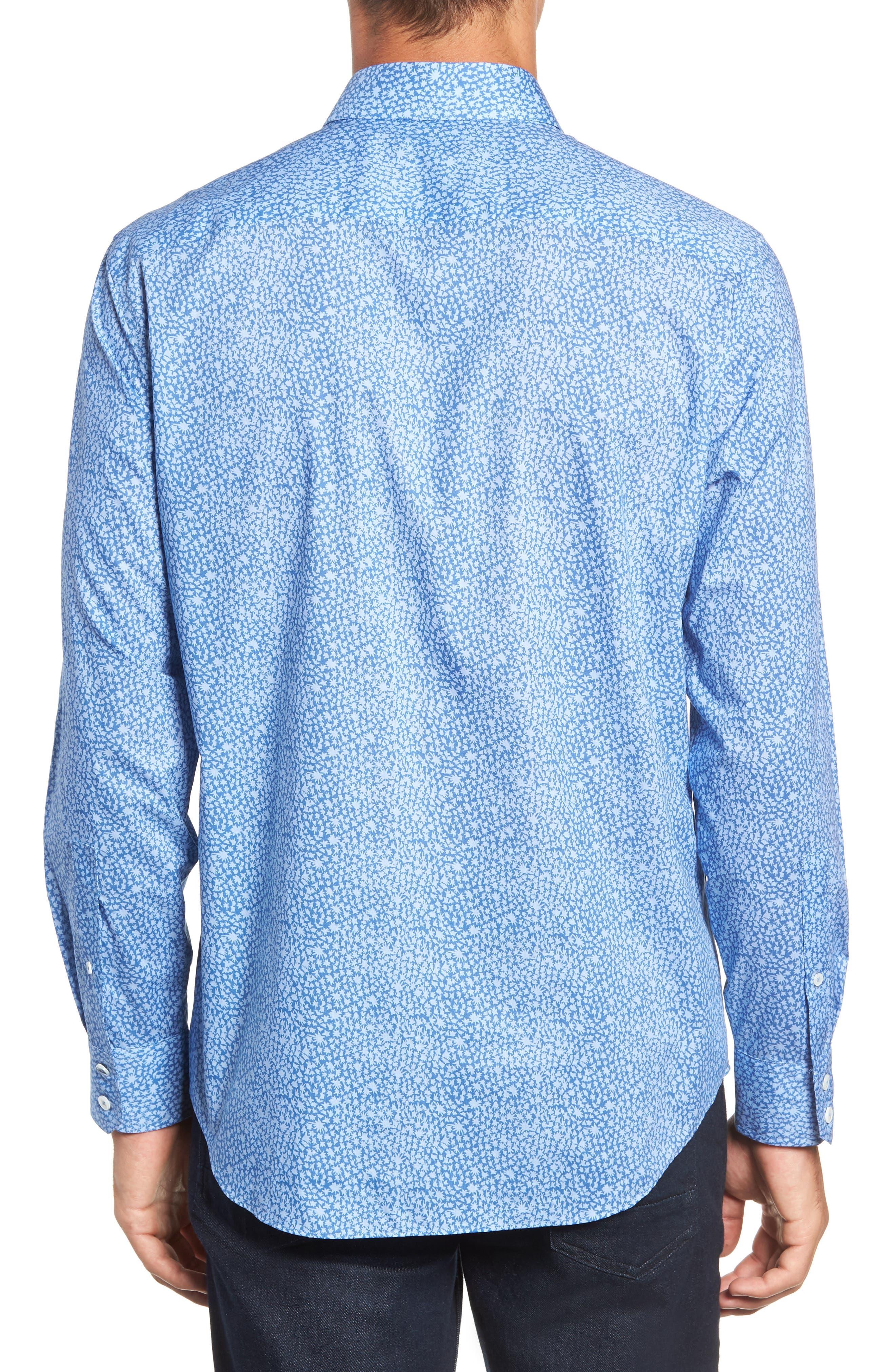 ZACHARY PRELL,                             Elliot Regular Fit Sport Shirt,                             Alternate thumbnail 3, color,                             OCEAN
