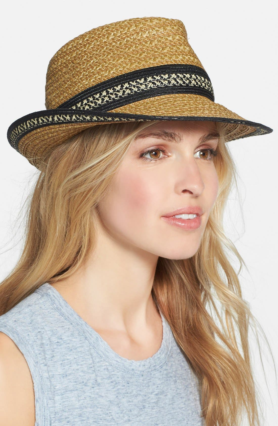 Squishee<sup>®</sup> Straw Fedora,                             Alternate thumbnail 3, color,                             252