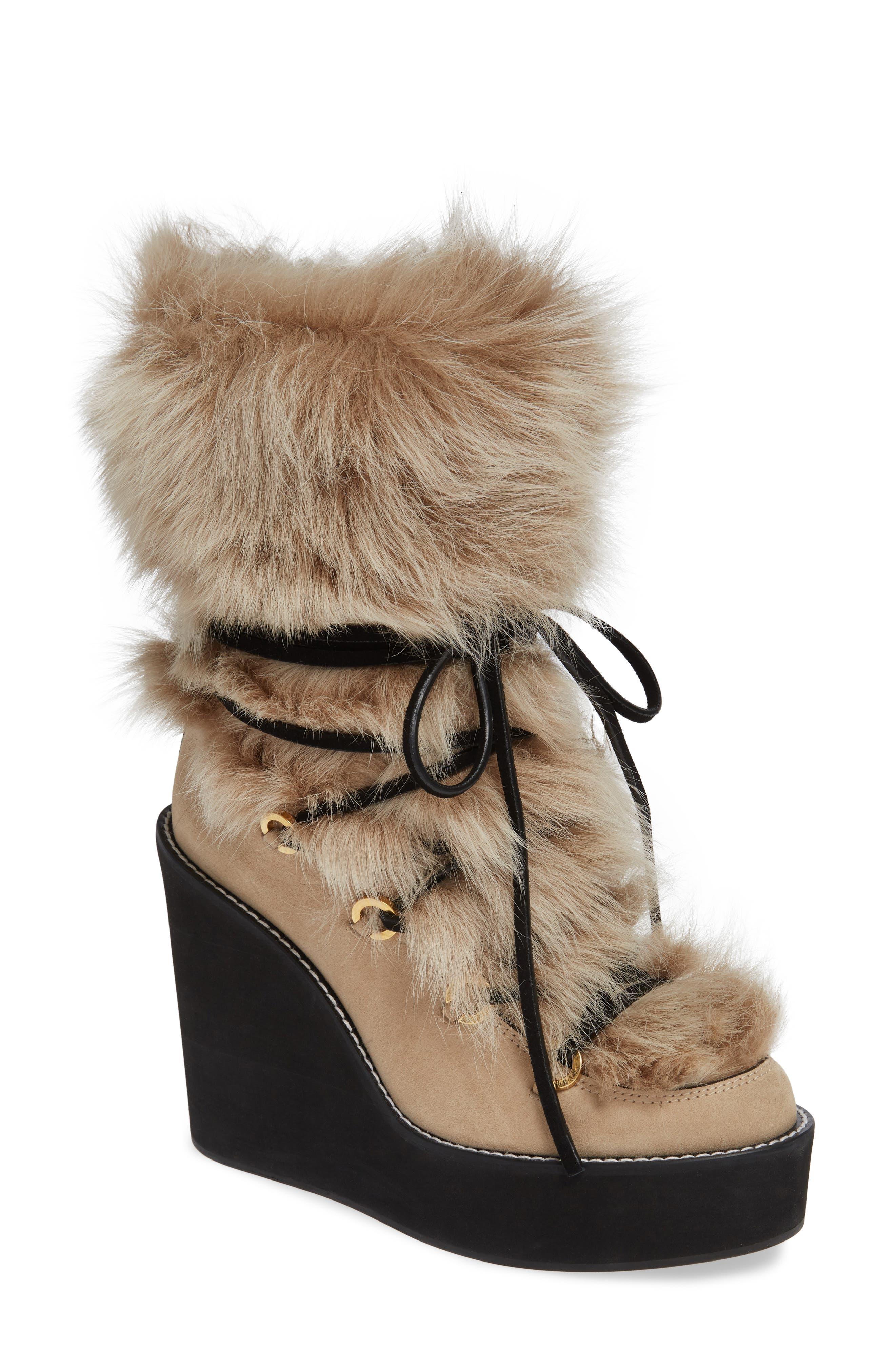 Nikita Genuine Fur Boot,                             Main thumbnail 1, color,                             270