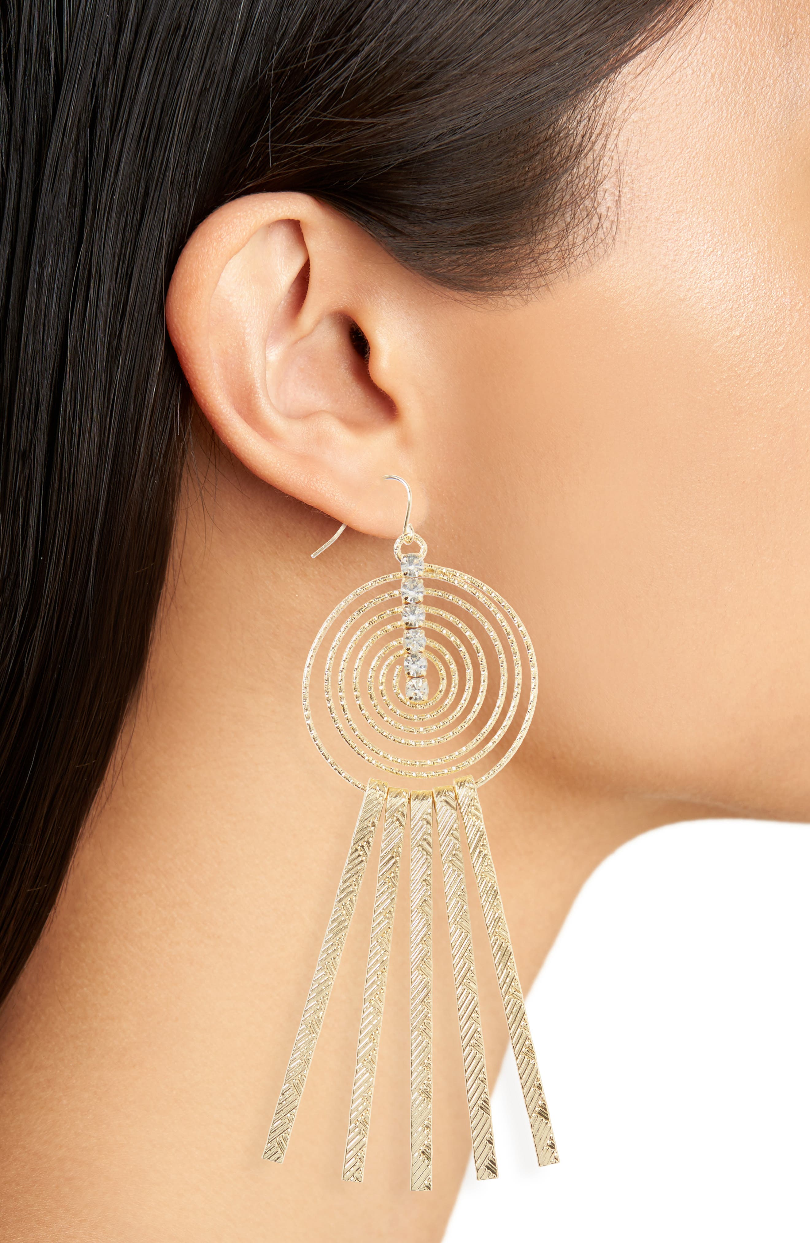 Swirly Sticks Drop Earrings,                             Alternate thumbnail 2, color,                             710