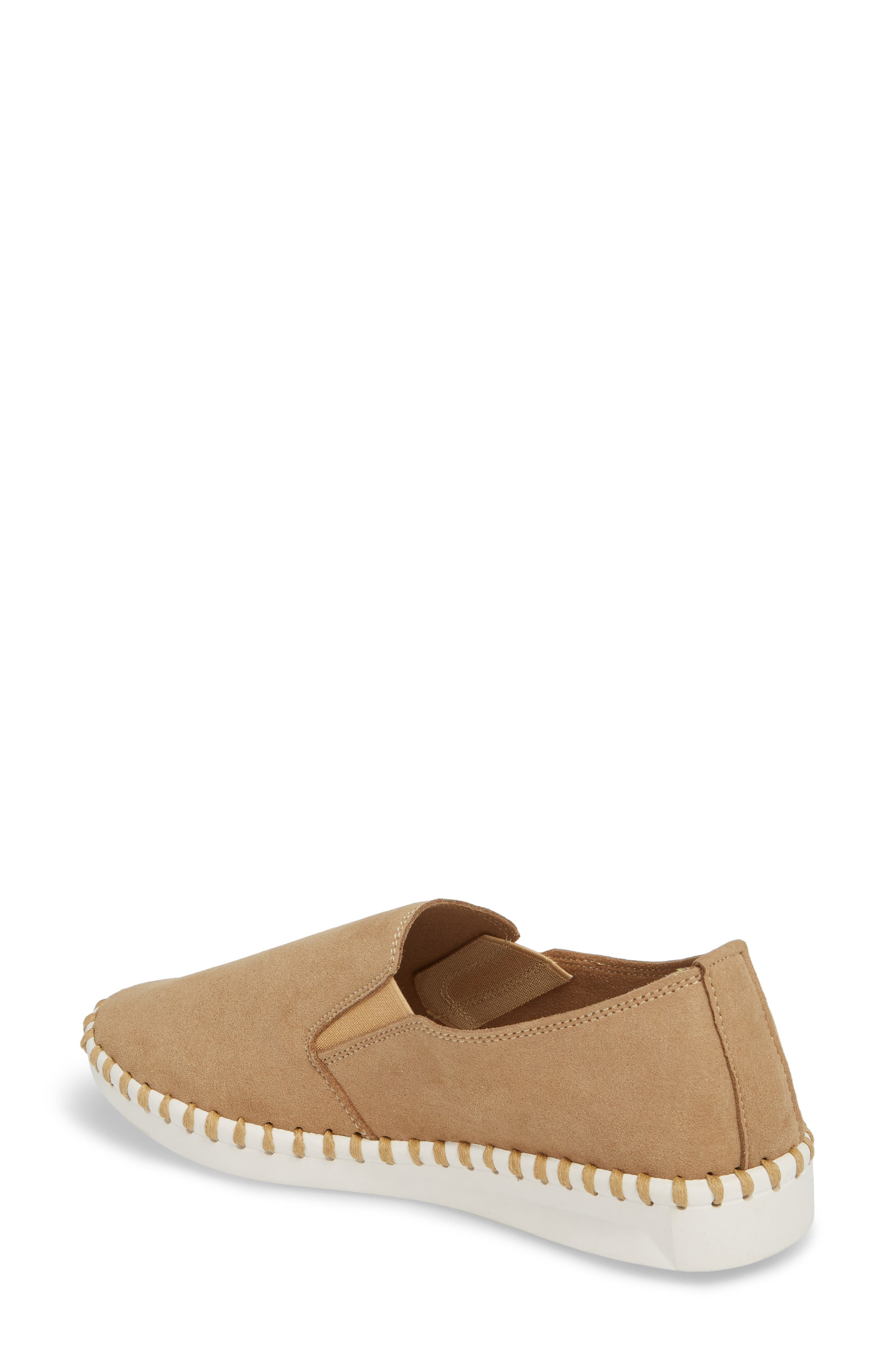 Salinas Waterproof Slip-On Sneaker,                             Alternate thumbnail 2, color,                             TAN FABRIC