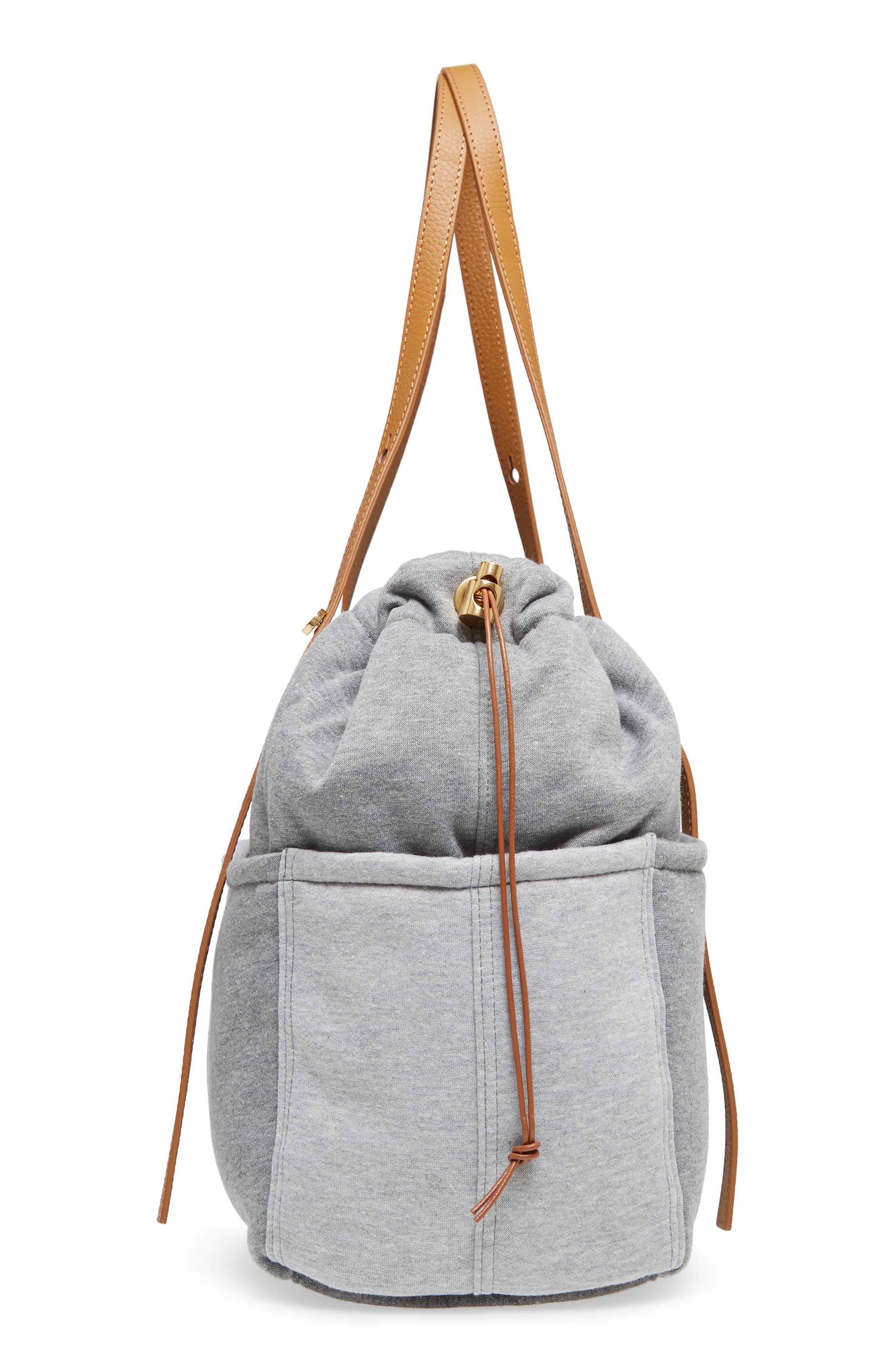 Jersey Diaper Bag,                             Alternate thumbnail 5, color,                             GREY