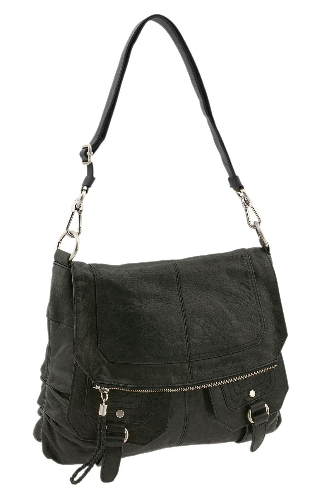 THE SAK,                             Flap Crossbody Bag,                             Main thumbnail 1, color,                             001
