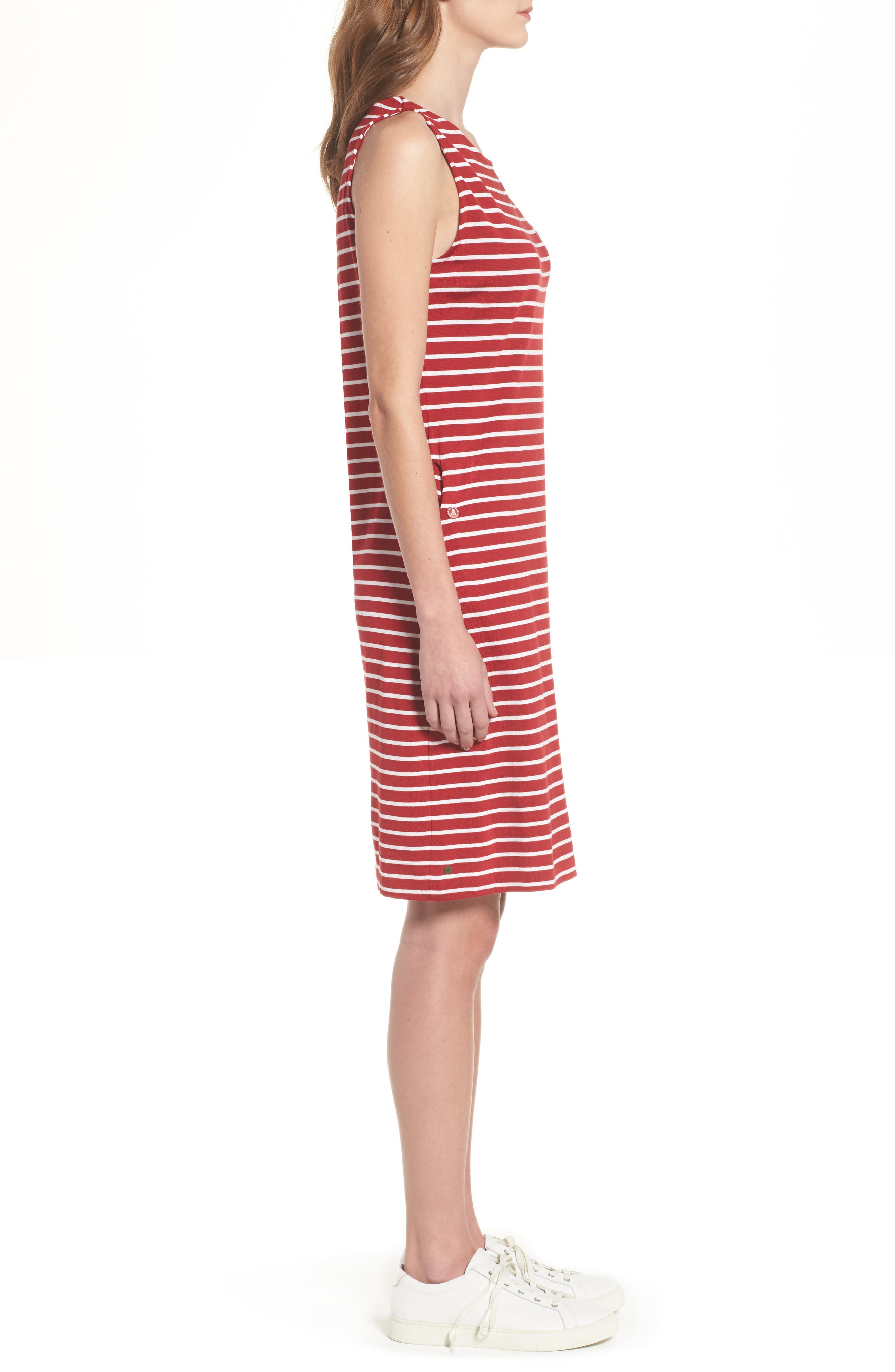 Dalmore Stripe Jersey Sleeveless Shift Dress,                             Alternate thumbnail 3, color,                             630