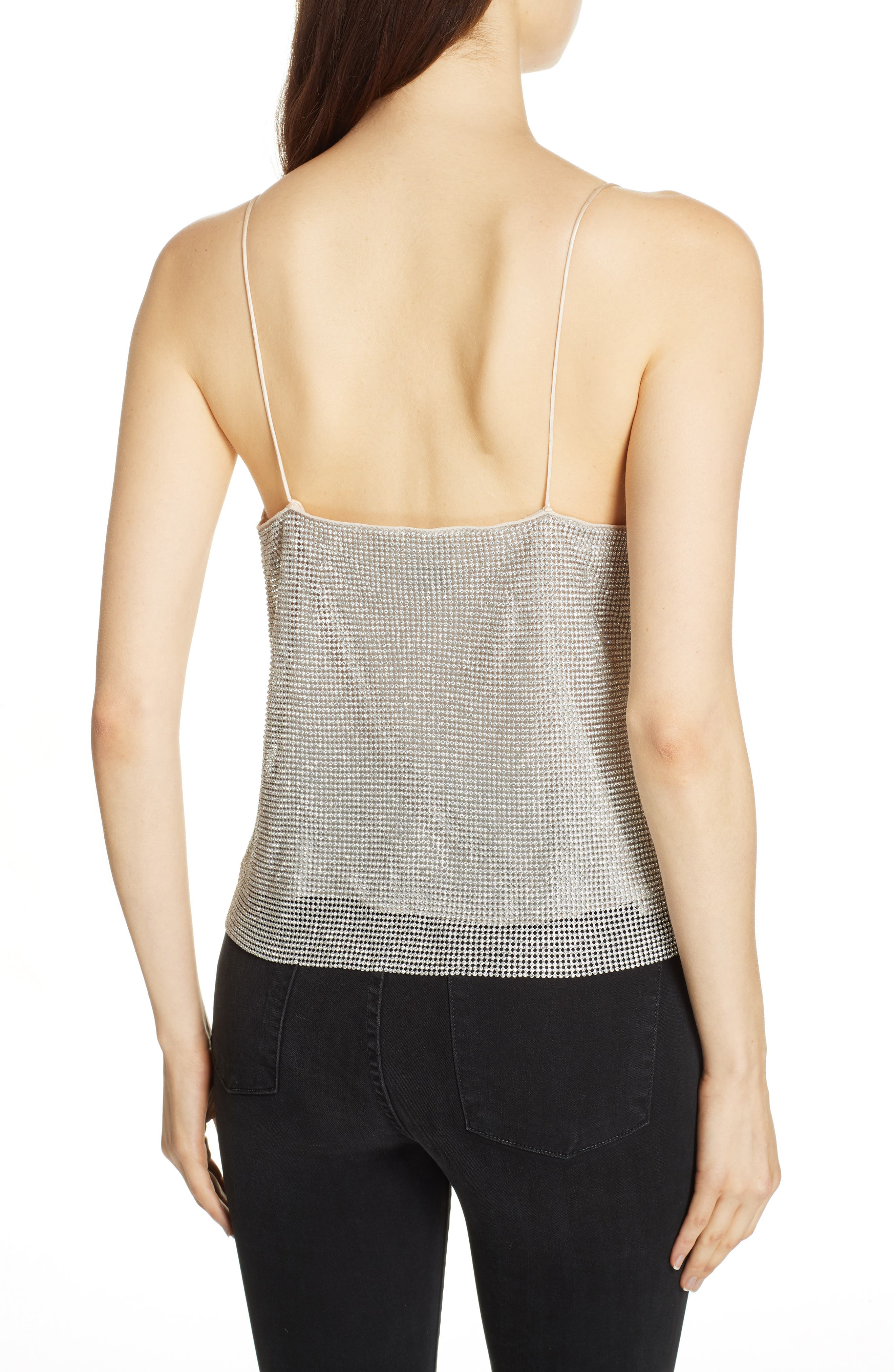 Harmon Crystal Chainmaille Camisole,                             Alternate thumbnail 2, color,                             SILVER/ CHAINMAIL