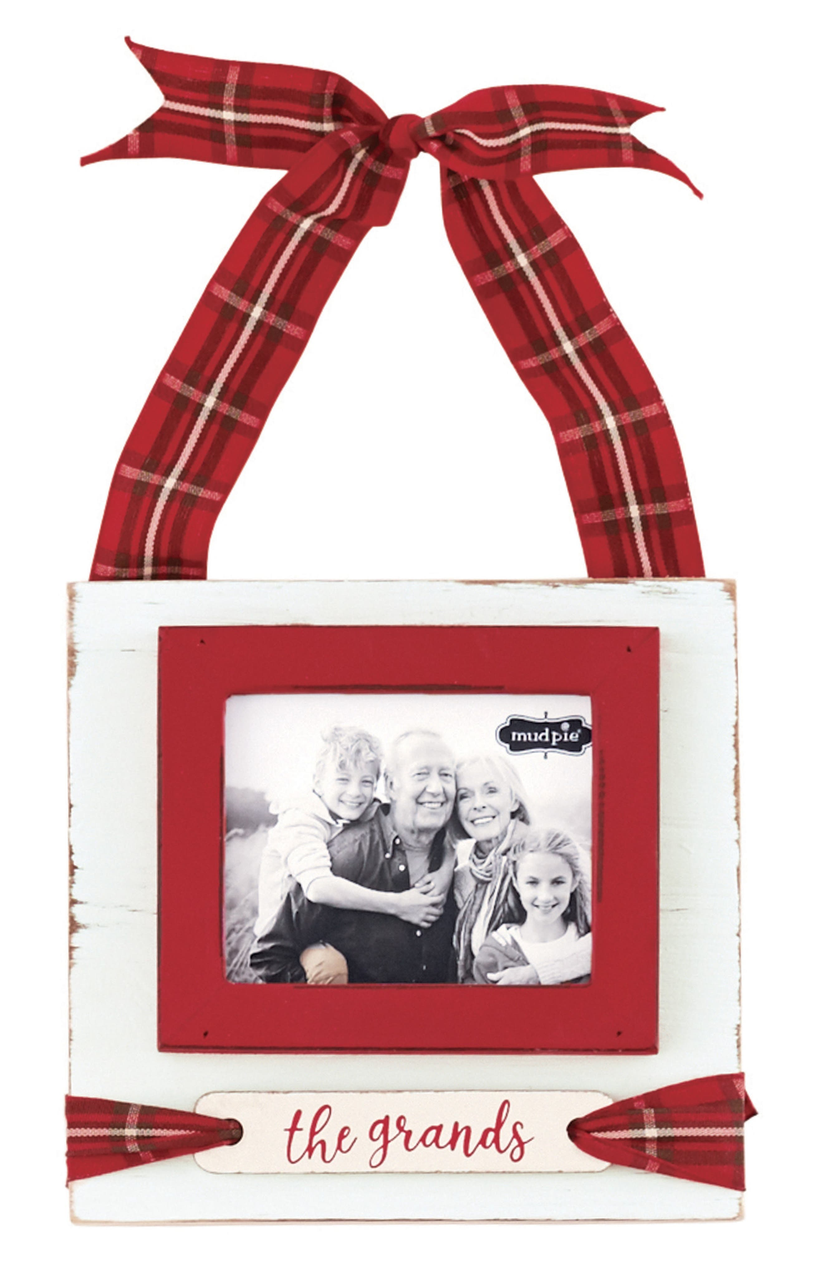 The Grands Tartan Frame Ornament,                             Main thumbnail 1, color,