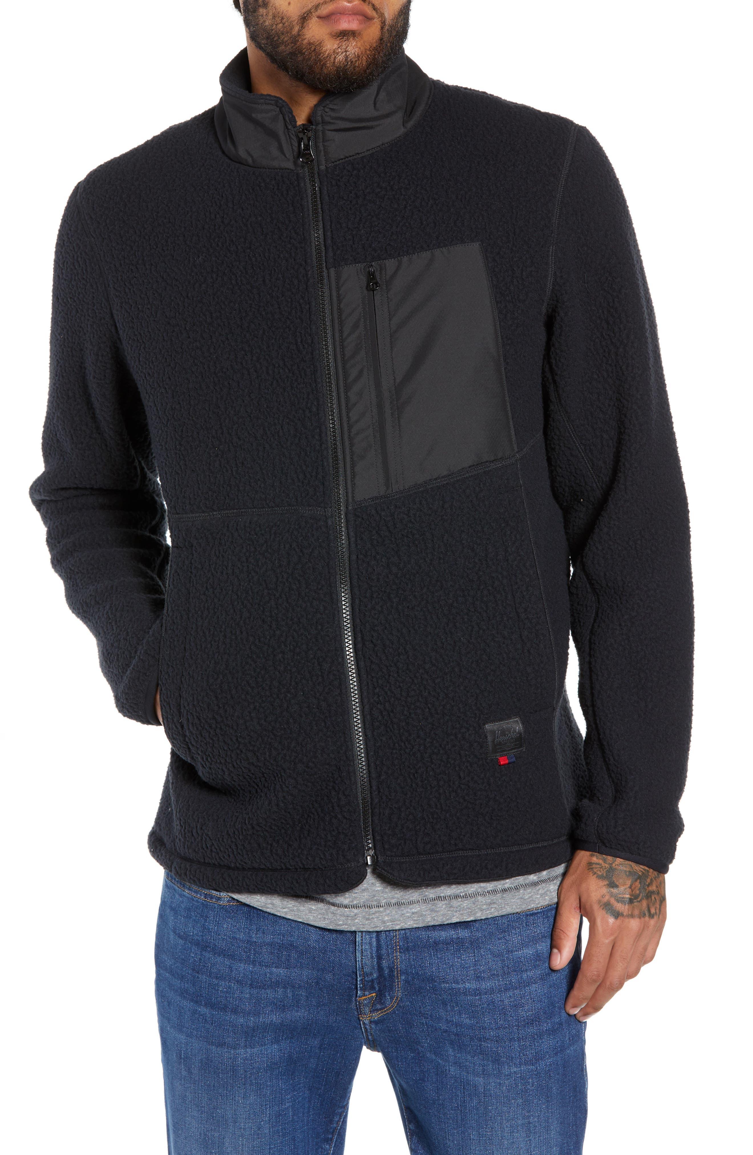 HERSCHEL SUPPLY CO.,                             Tech Fleece Jacket,                             Main thumbnail 1, color,                             001