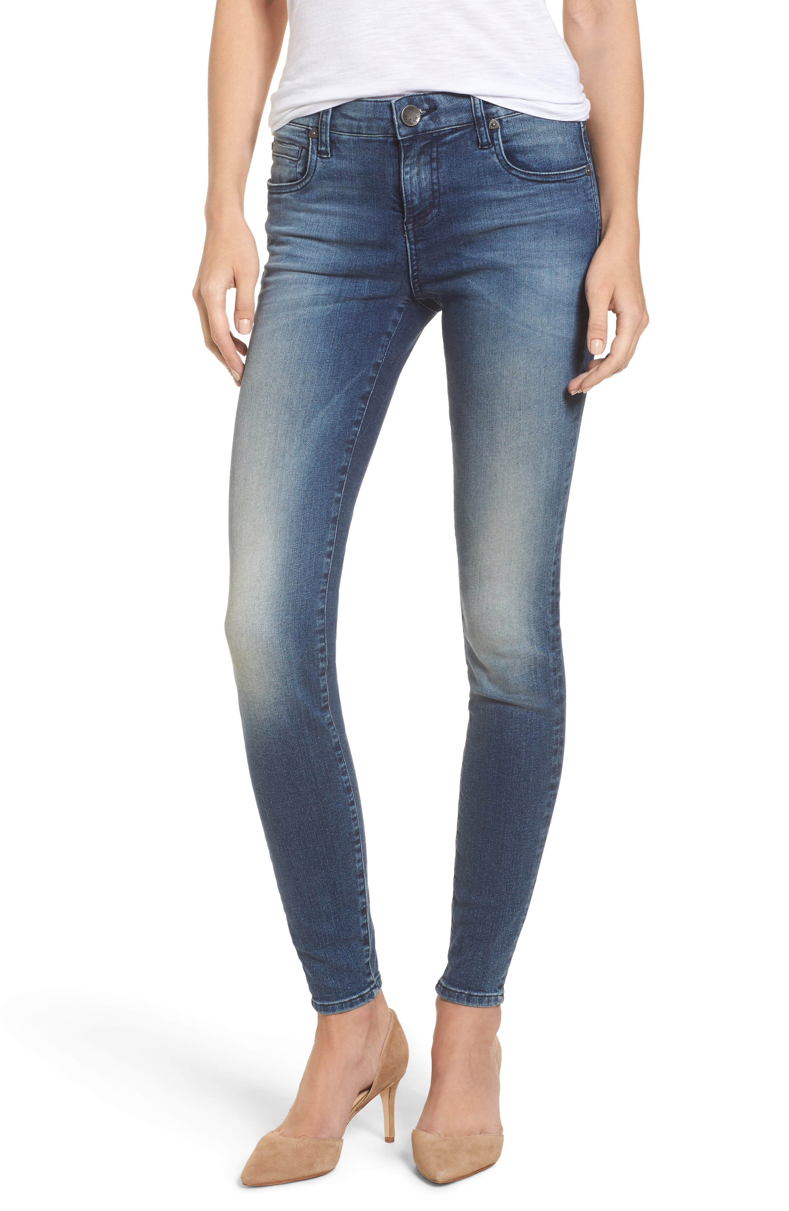 Donna High Waist Ankle Skinny Jeans,                         Main,                         color,