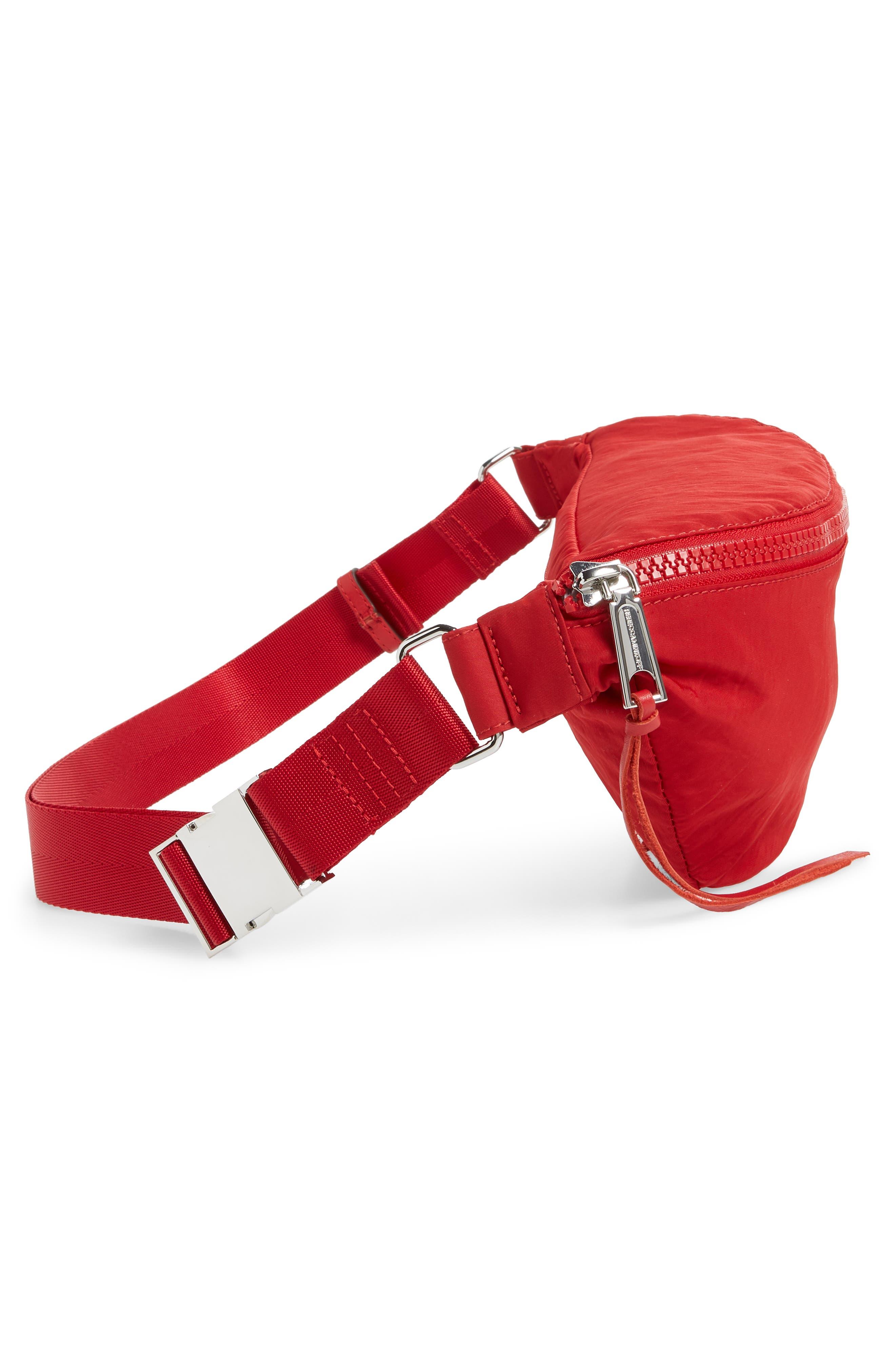 Nylon Belt Bag,                             Alternate thumbnail 6, color,                             SCARLET