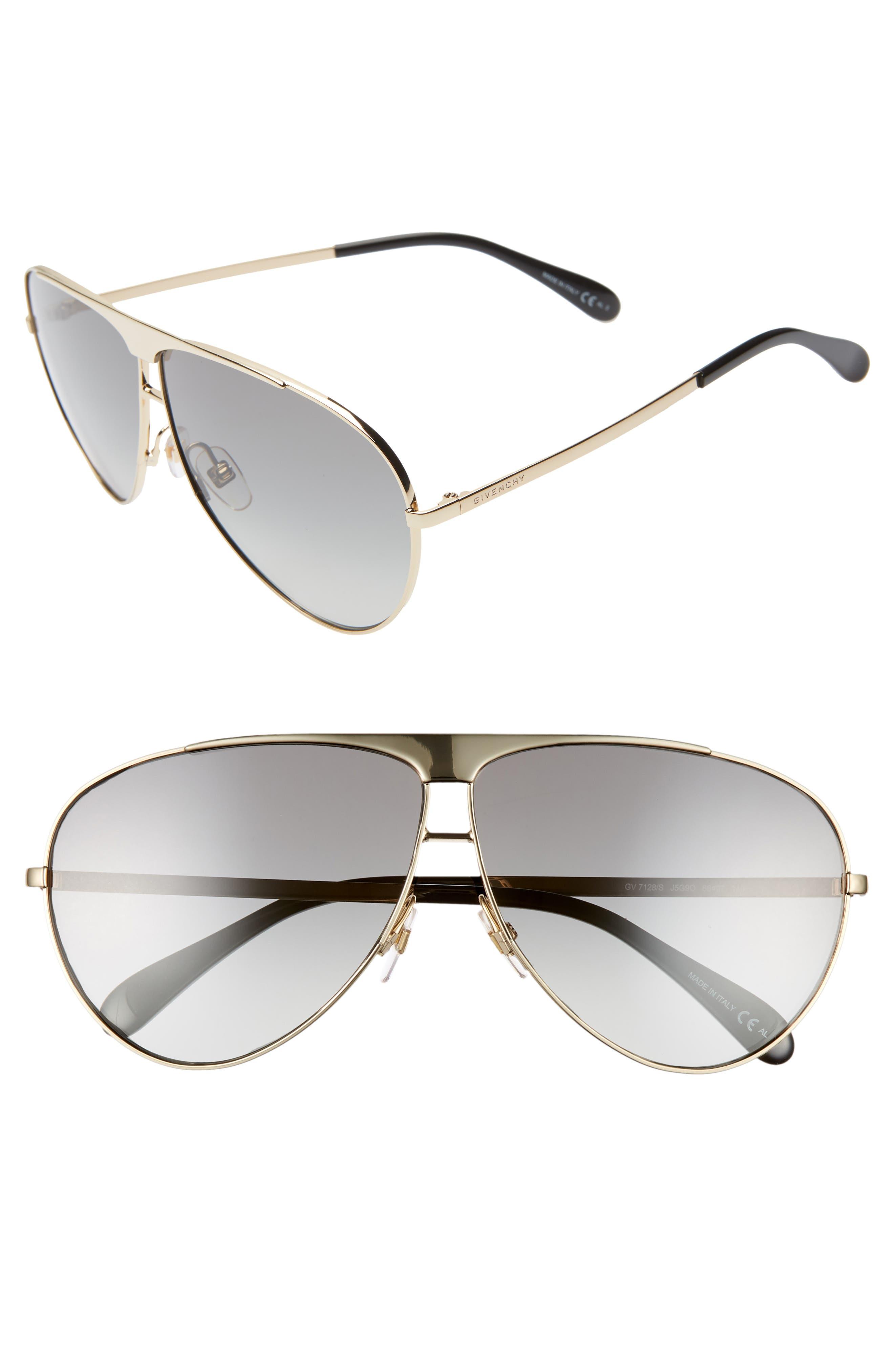 66mm Aviator Sunglasses,                             Main thumbnail 1, color,                             710