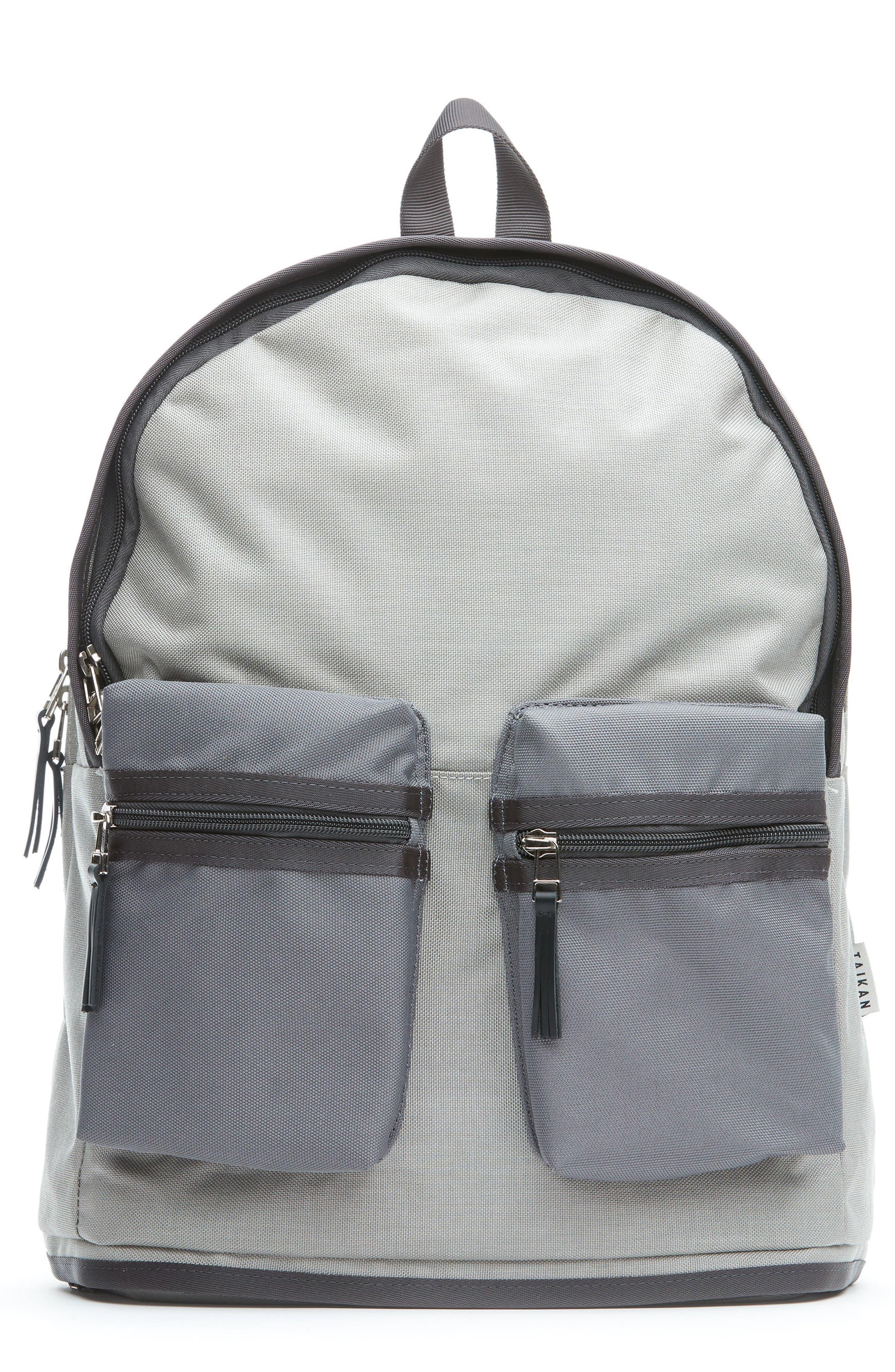 TAIKAN,                             Spartan Backpack,                             Main thumbnail 1, color,                             GREY/ GREY