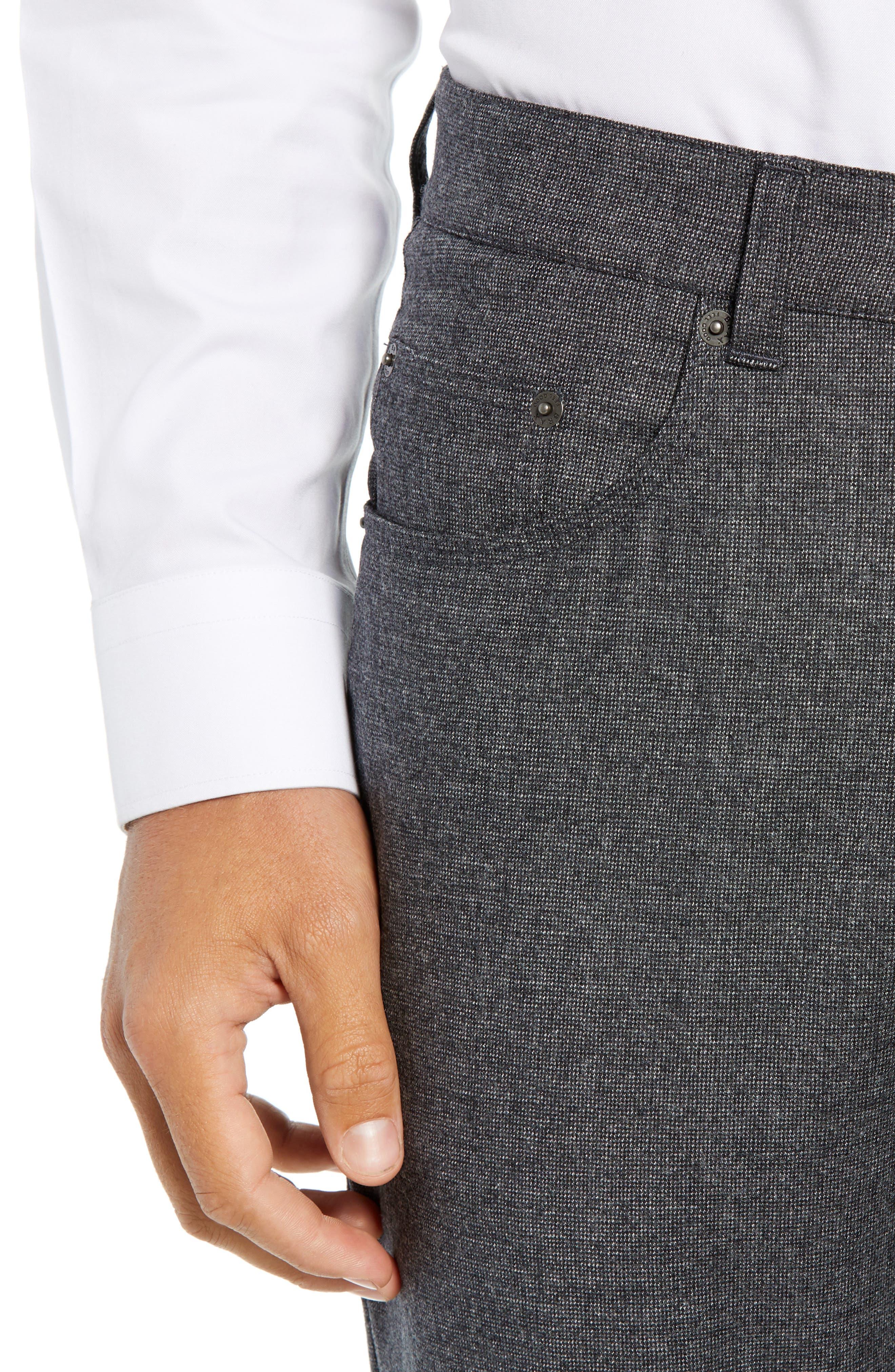 Cadiz Five Pocket Stretch Wool Trousers,                             Alternate thumbnail 4, color,                             GRAPHITE