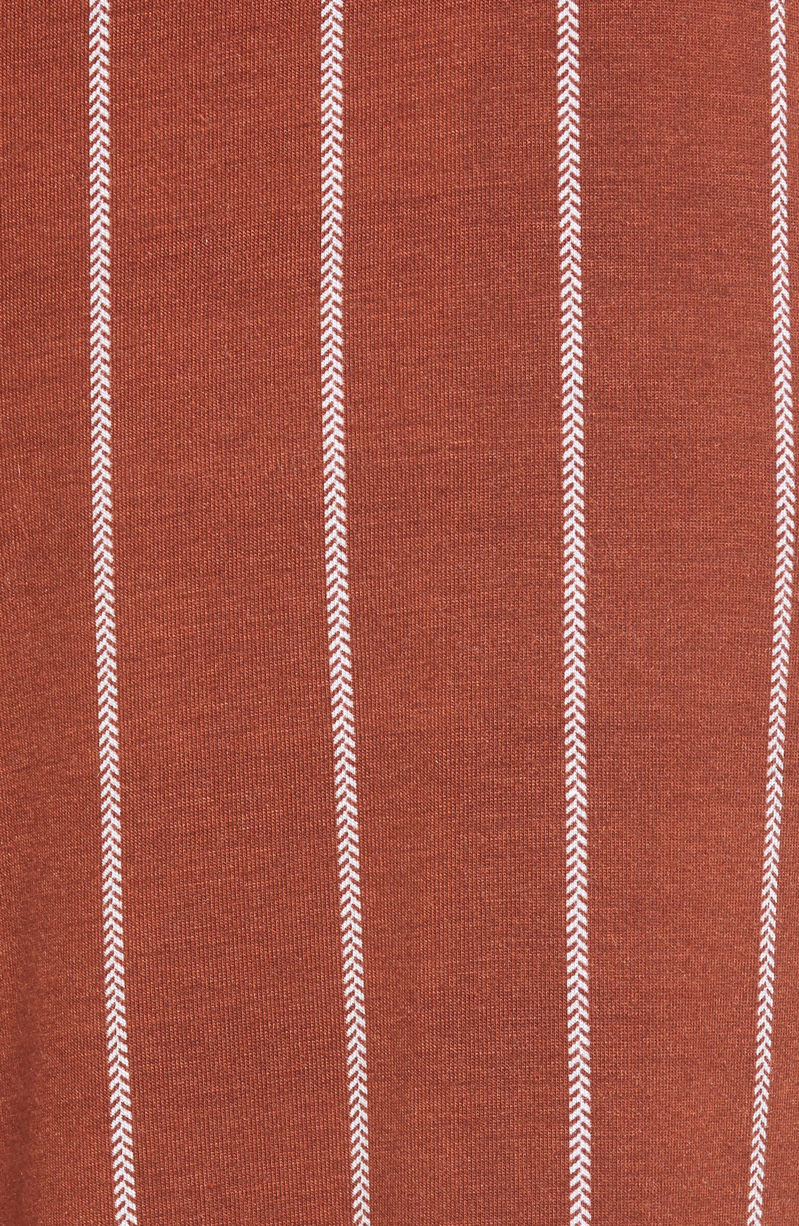 Stripe Knit Wide Leg Pants,                             Alternate thumbnail 6, color,                             SEQUOIA