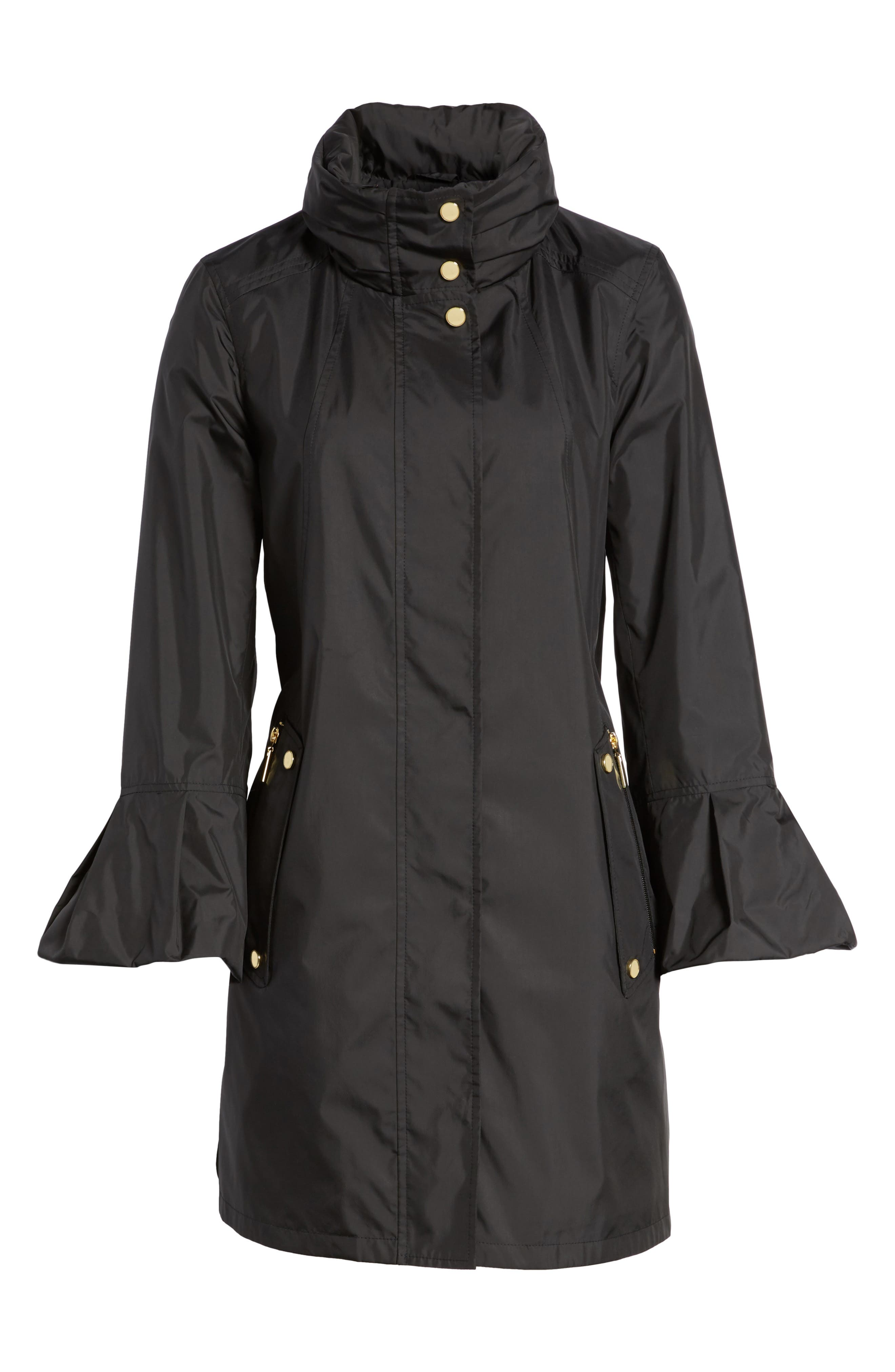 Flare Sleeve Packable Swing Jacket,                             Alternate thumbnail 9, color,