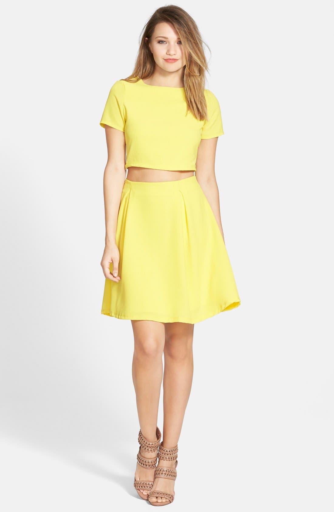 Woven A-Line Skirt,                             Alternate thumbnail 2, color,                             700