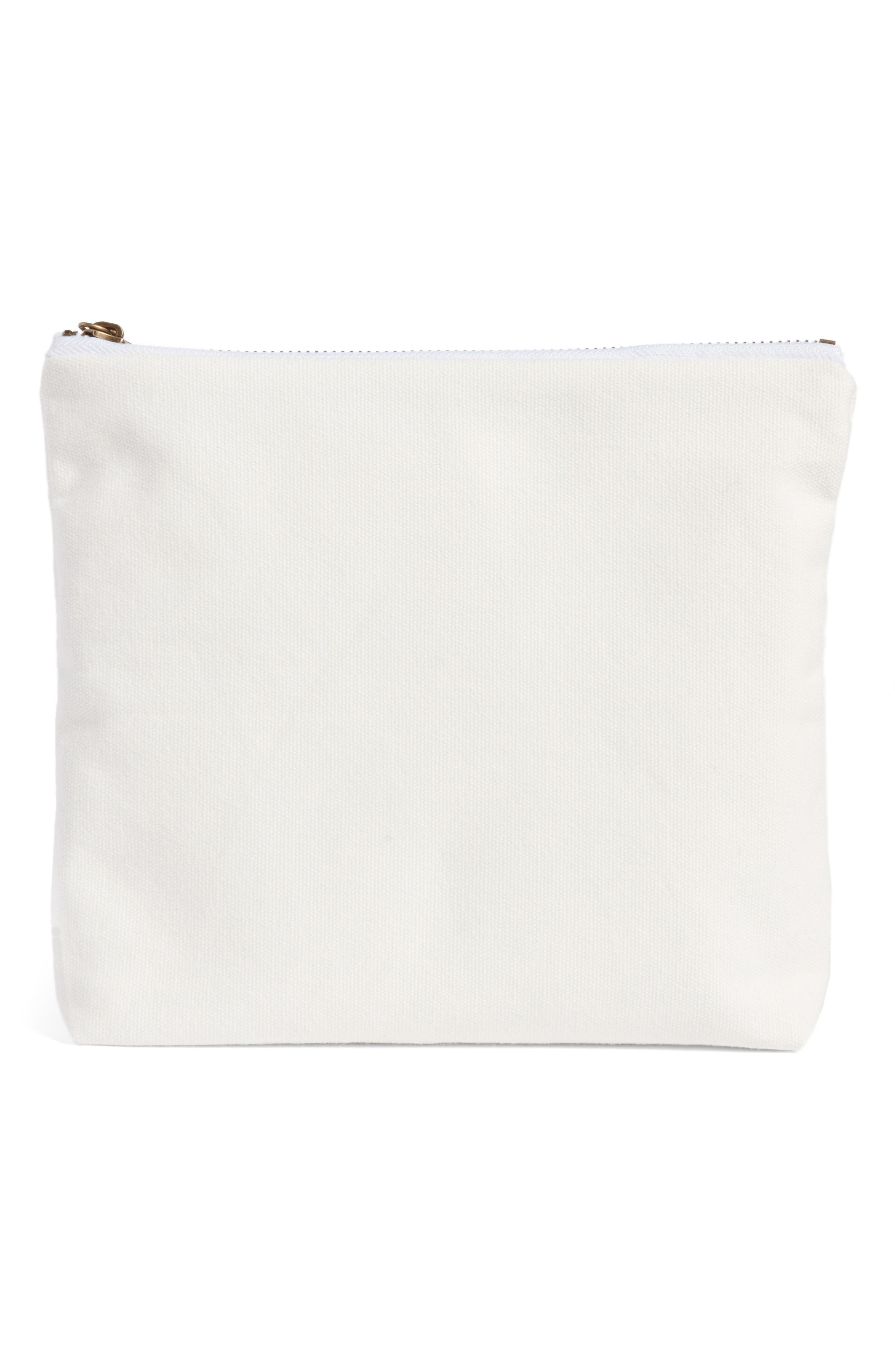 Old & Wise Before Young & Crazy Zip Top Accessory Bag,                             Alternate thumbnail 2, color,                             900