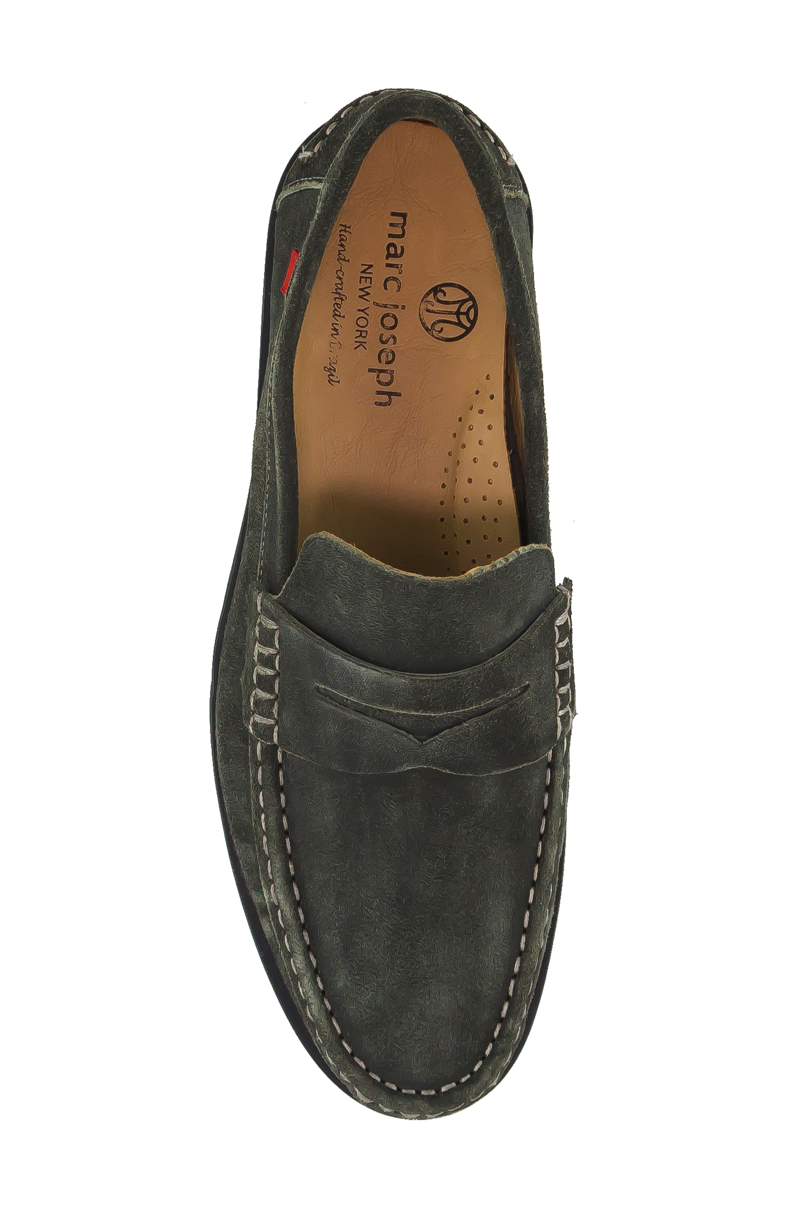 Cortland Penny Loafer,                             Alternate thumbnail 5, color,                             GRAPHITE LEATHER
