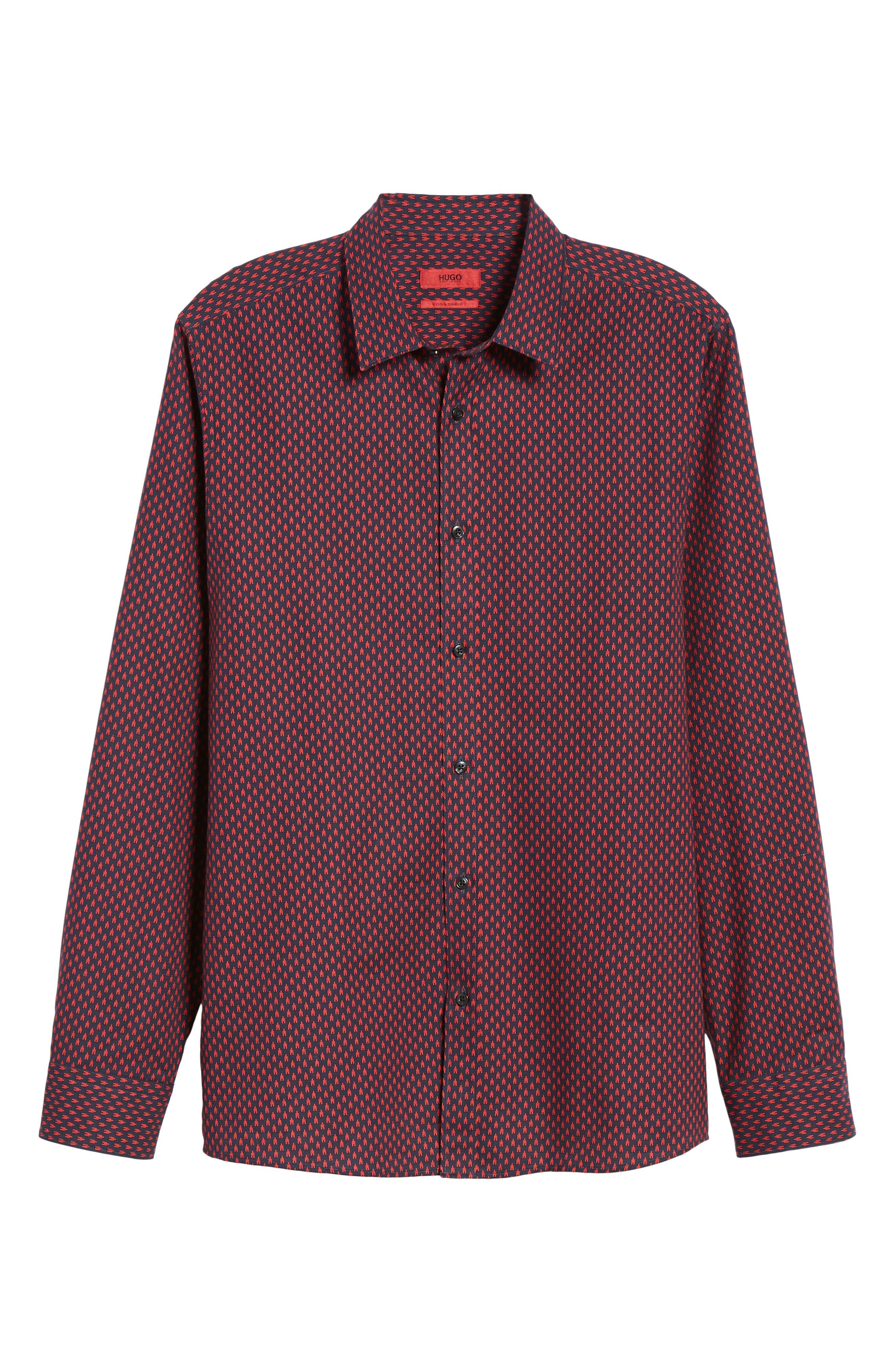 Elisha Extra Slim Fit Microprint Sport Shirt,                             Alternate thumbnail 5, color,                             622