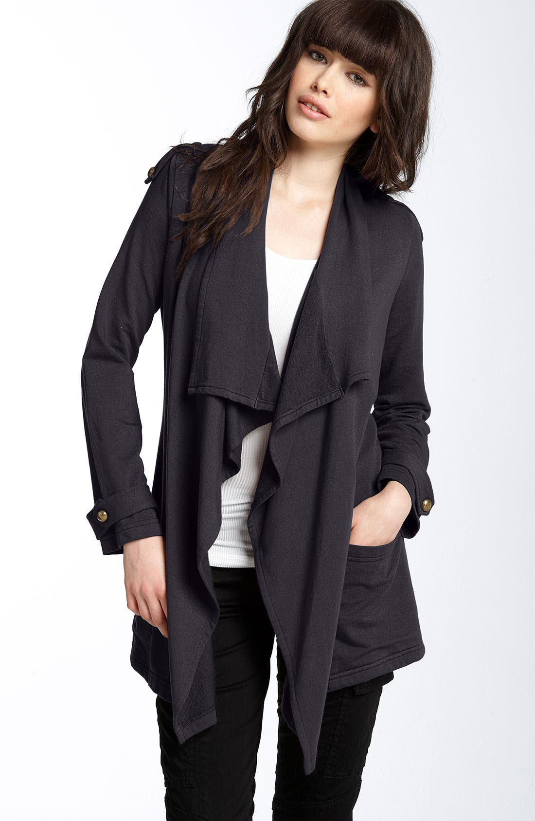 'Trench' Wrap Cardigan, Main, color, 020