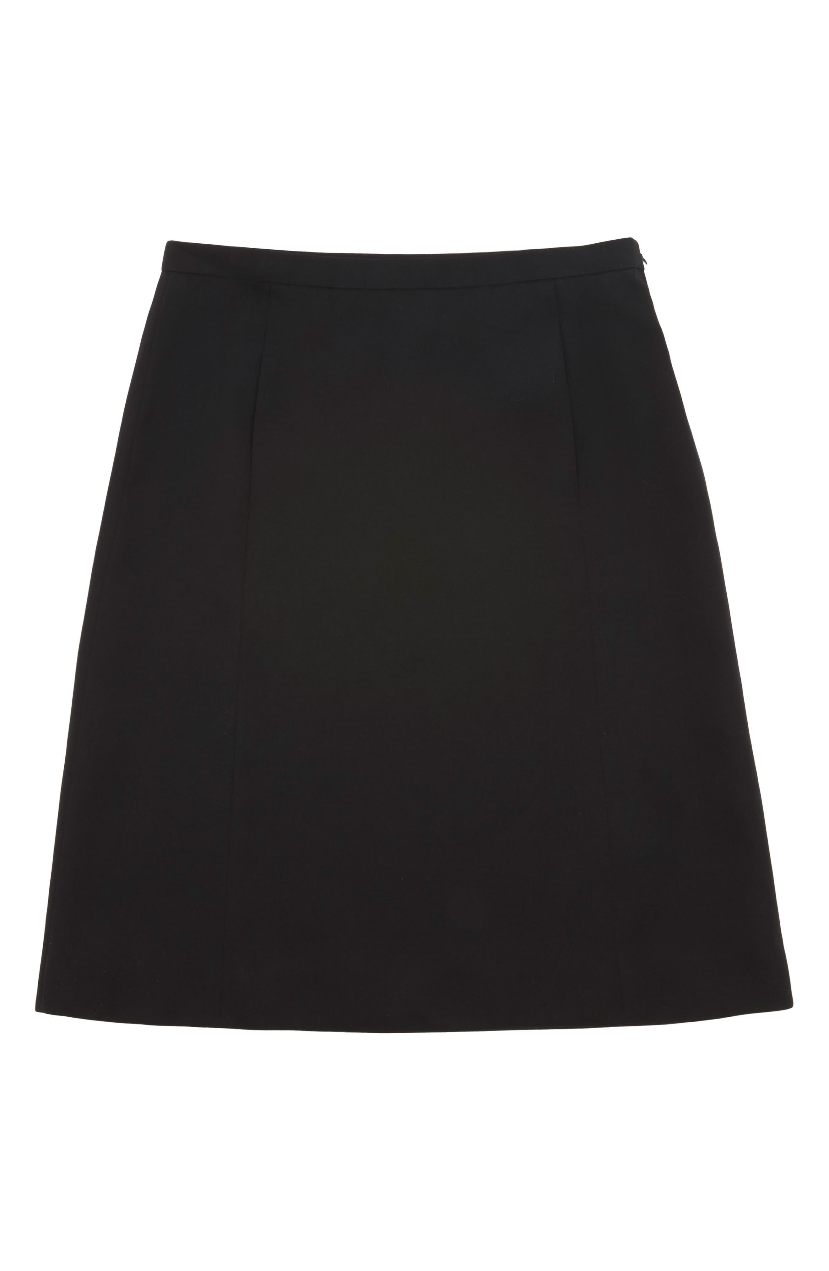 MARC JACOBS,                             Wool A-Line Skirt,                             Alternate thumbnail 4, color,                             BLACK