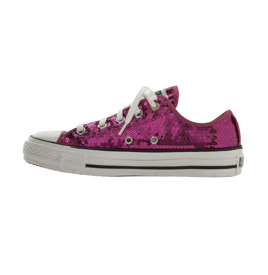 CONVERSE,                             Chuck Taylor<sup>®</sup> Sequined Sneaker,                             Alternate thumbnail 3, color,                             606