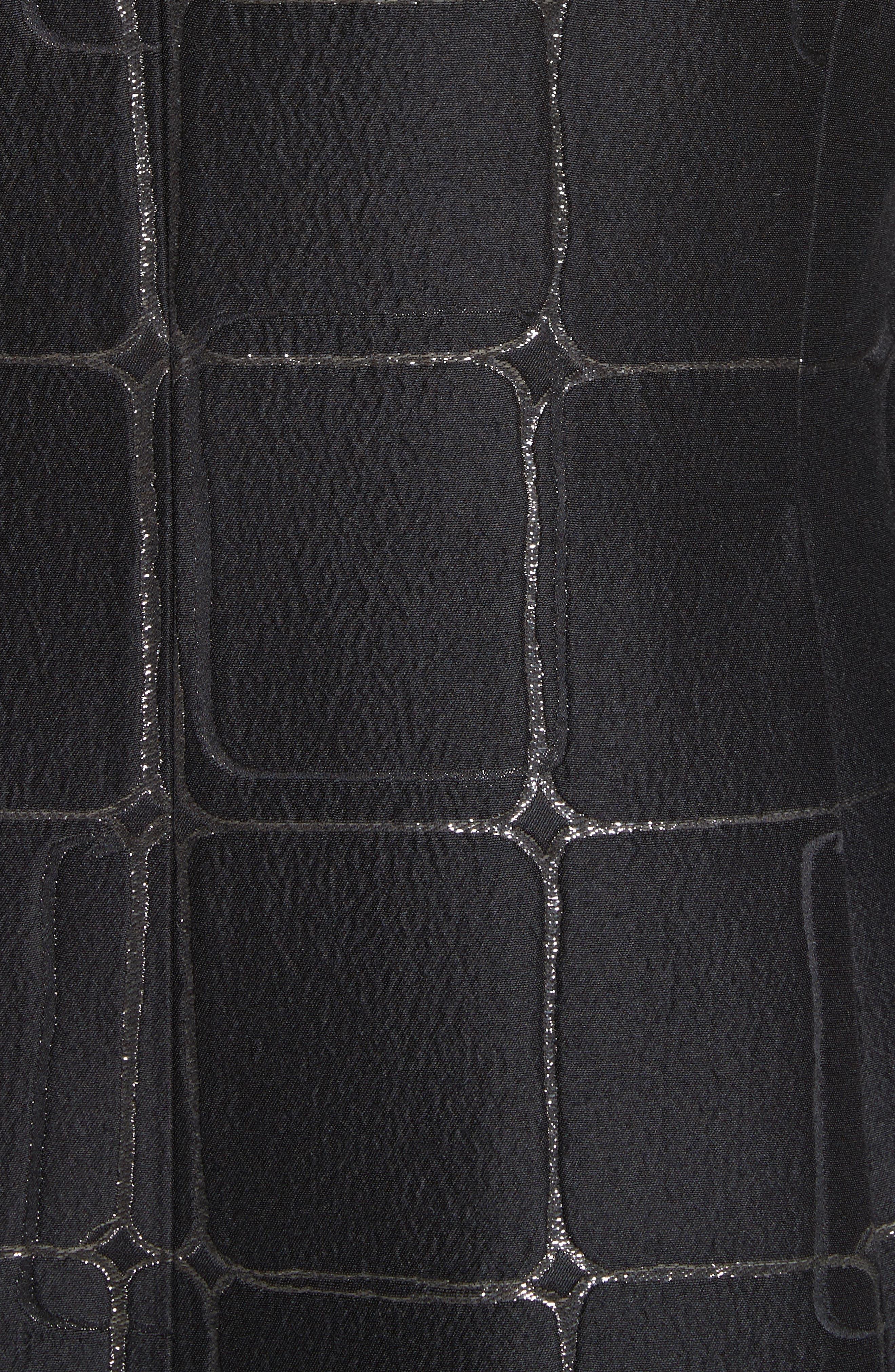 Square Metallic Jacquard Jacket,                             Alternate thumbnail 6, color,                             001