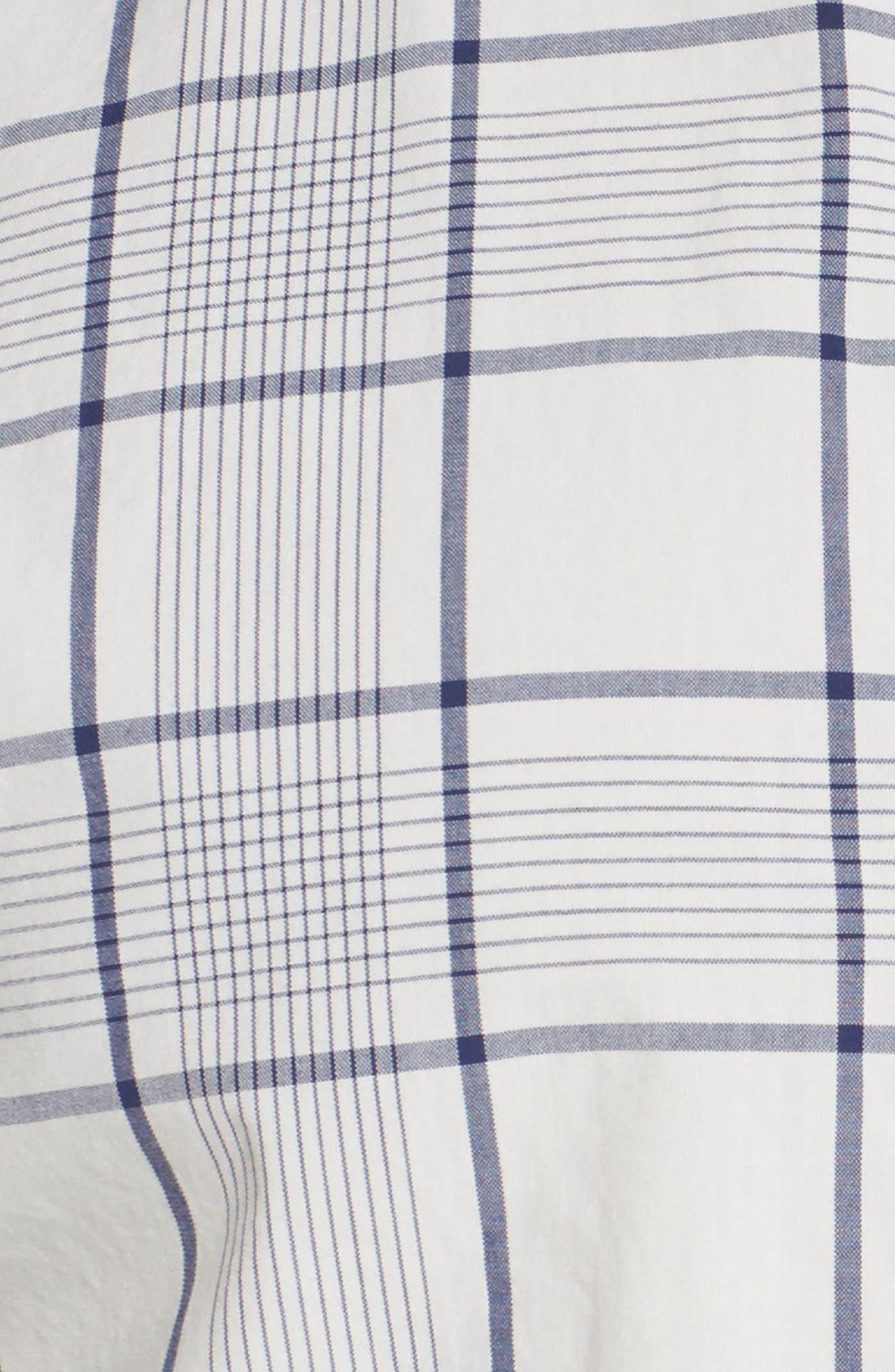 Slim Fit Summerweight Plaid Sport Shirt,                             Alternate thumbnail 4, color,                             400
