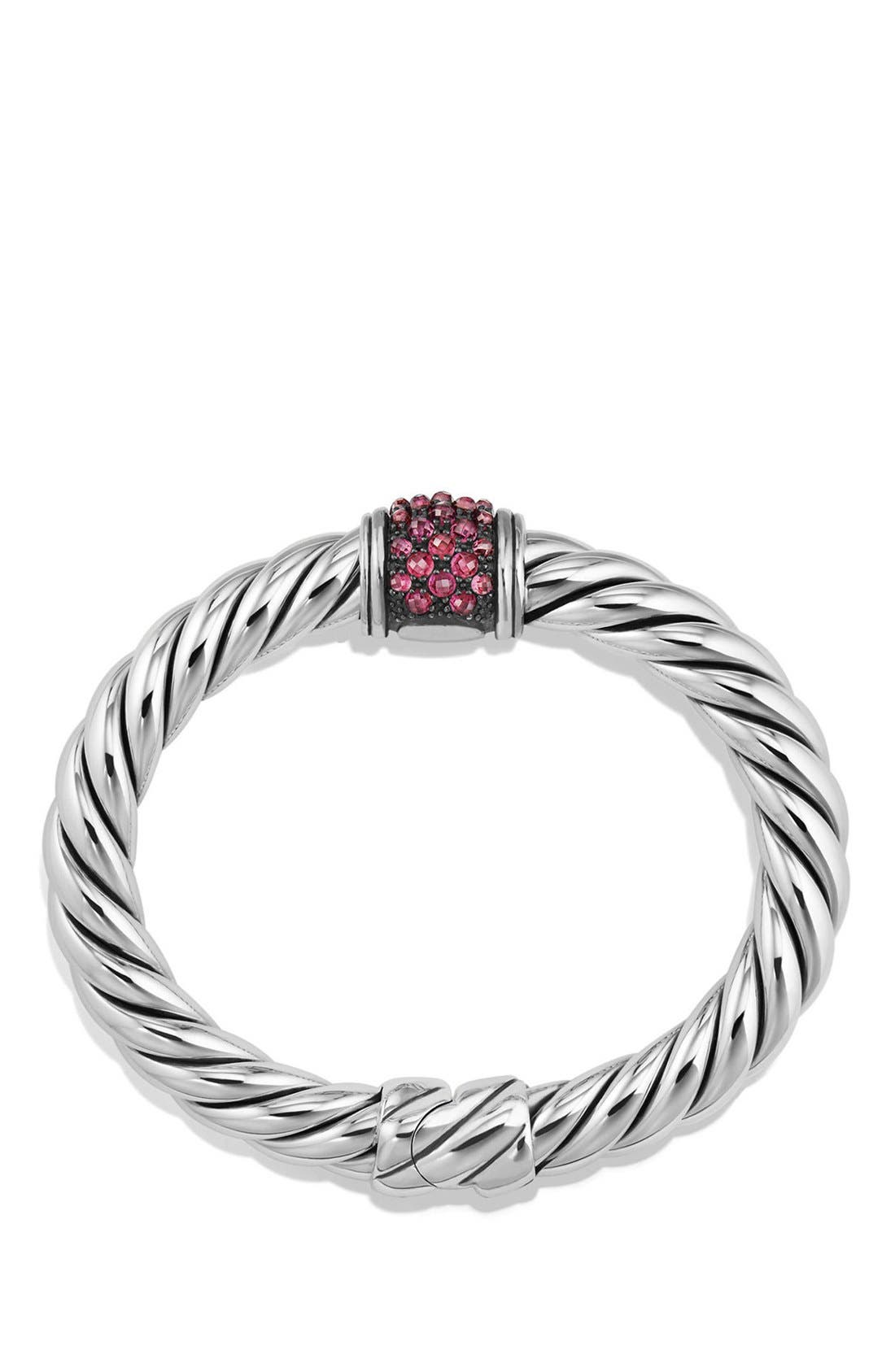 Cable Berries Hinge Bracelet,                             Alternate thumbnail 2, color,                             SILVER