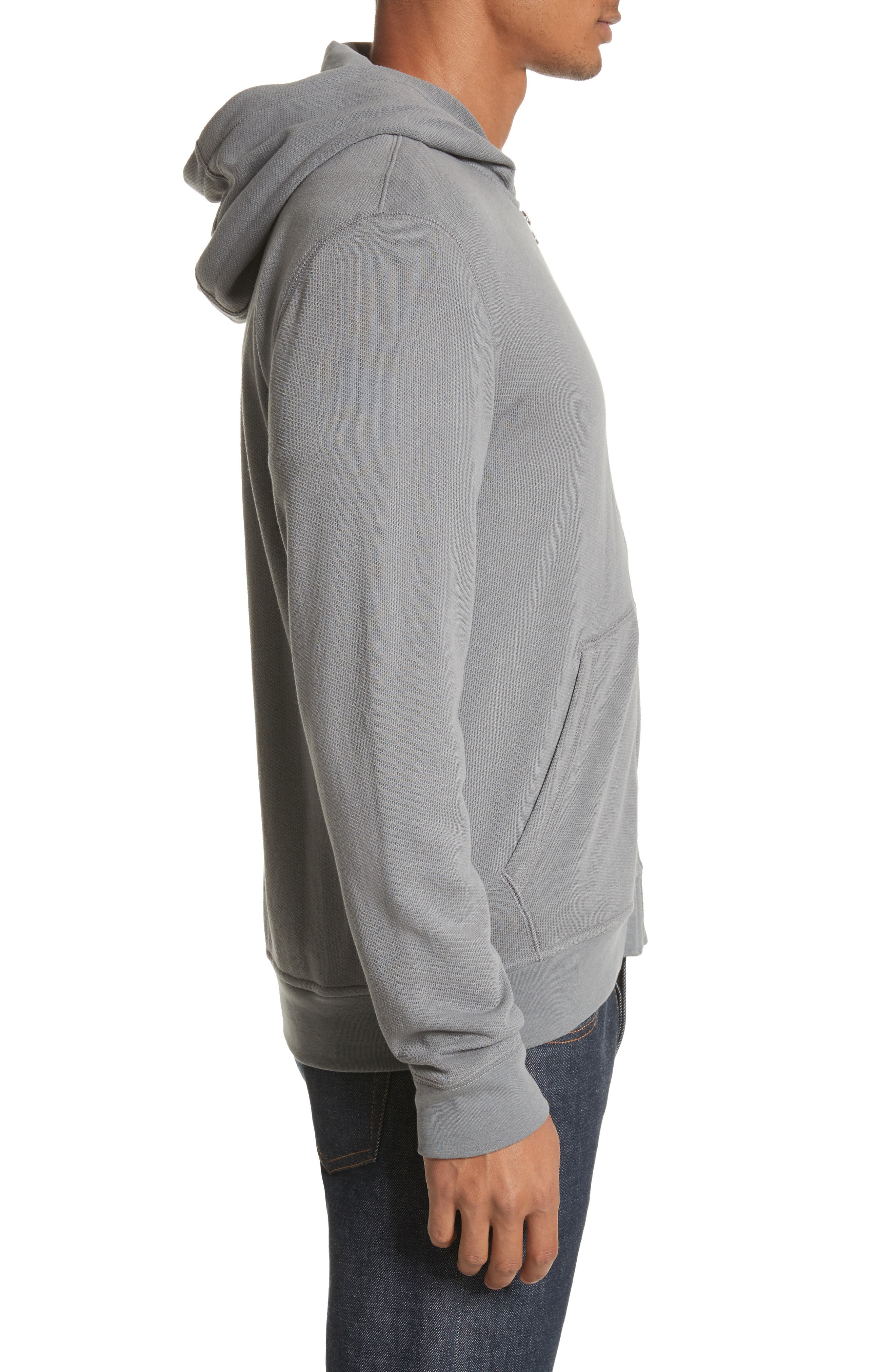 French Terry Zip Hoodie,                             Alternate thumbnail 3, color,                             024