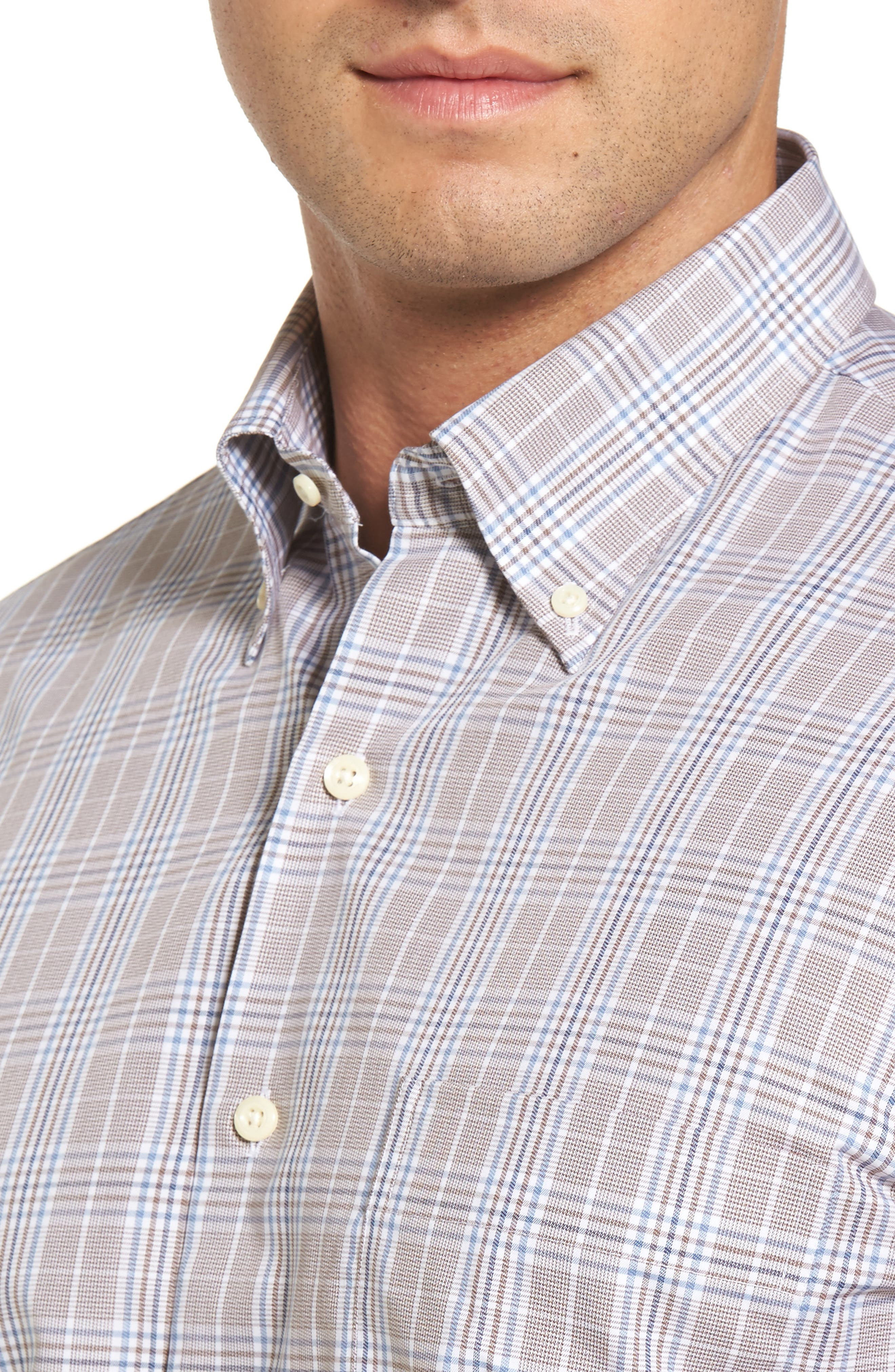 River Glen Plaid Regular Fit Sport Shirt,                             Alternate thumbnail 4, color,                             230