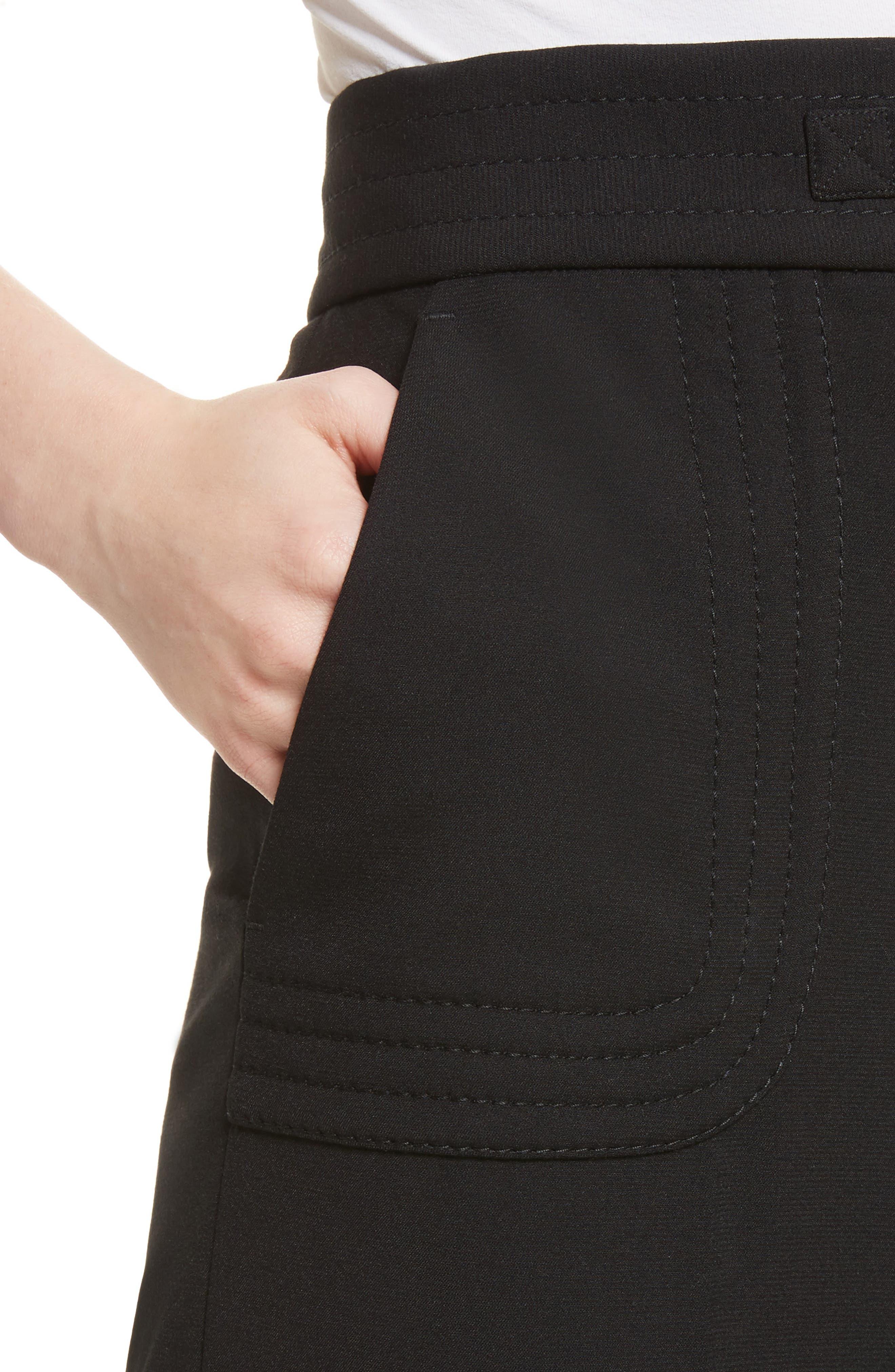 Belt Detail Culottes,                             Alternate thumbnail 4, color,