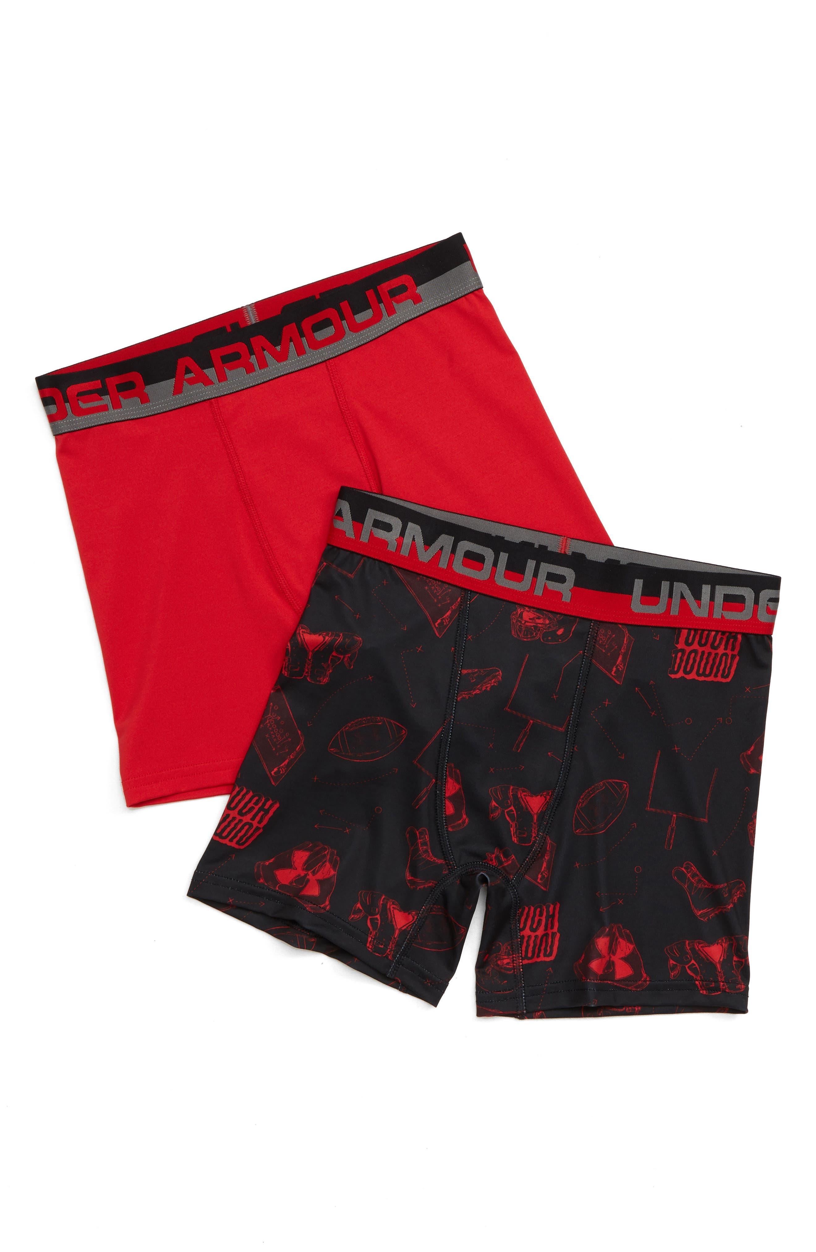 UNDER ARMOUR,                             2-Pack Performance HeatGear<sup>®</sup> Boxer Briefs,                             Main thumbnail 1, color,                             001