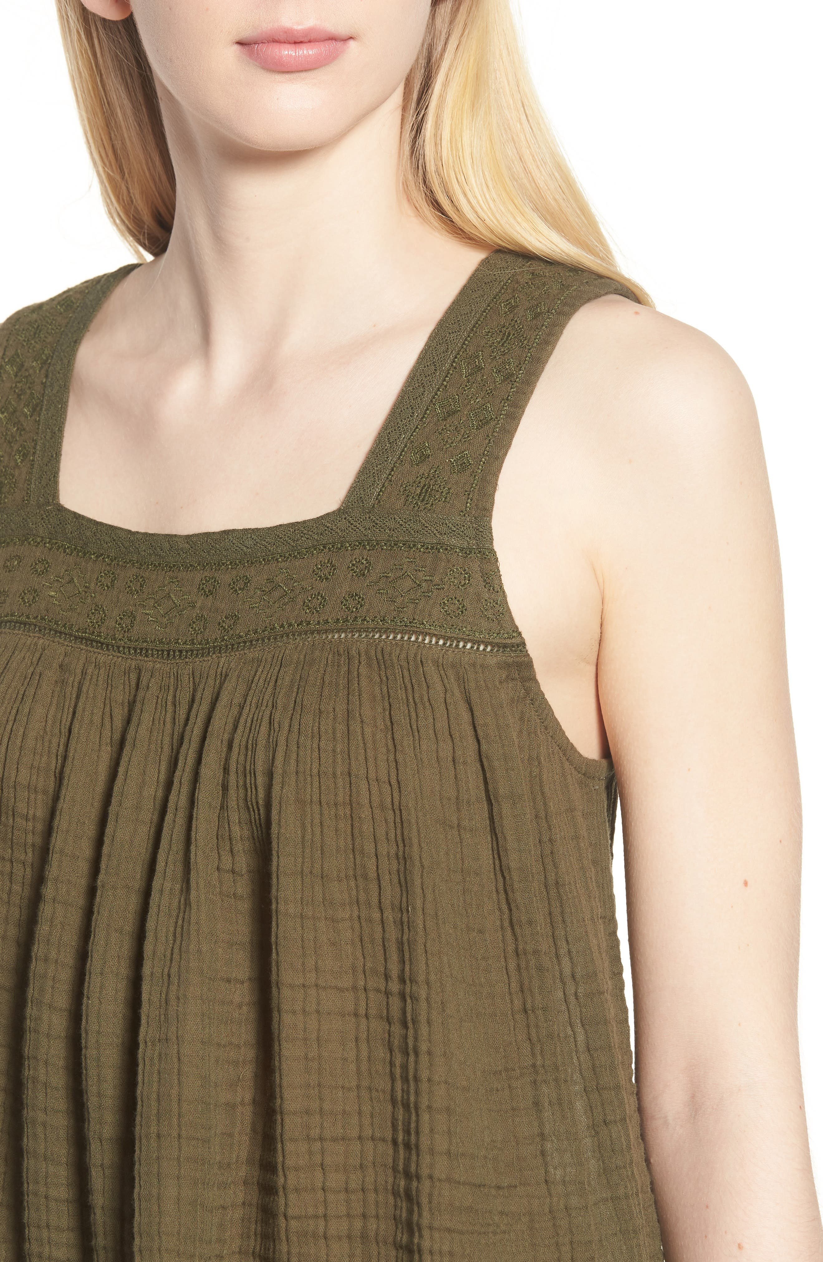Embroidered Neck Swing Tank,                             Alternate thumbnail 17, color,