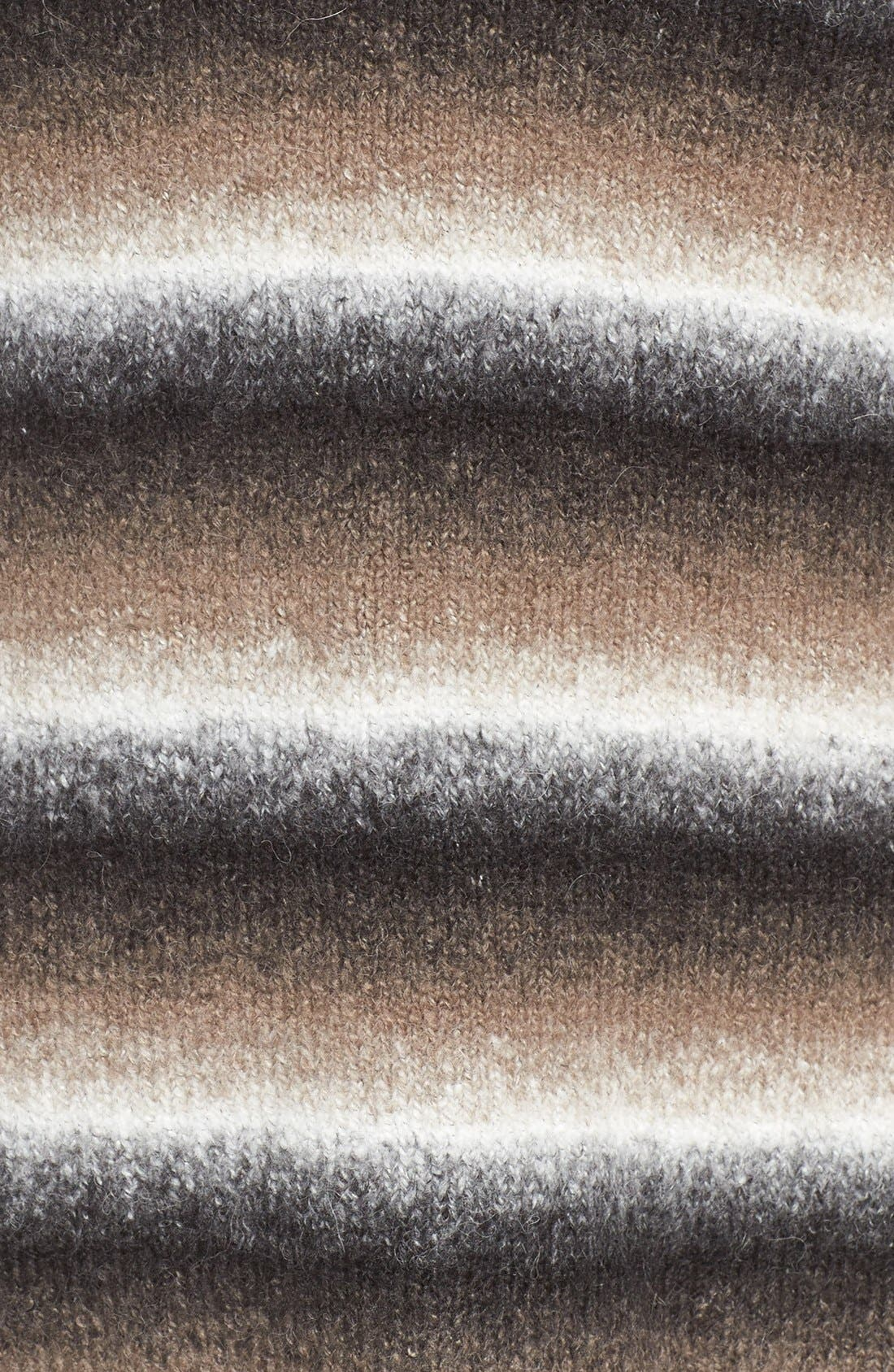 'Bary' Ombré Stripe V-Neck Sweater,                             Alternate thumbnail 5, color,                             DARK OMBRE