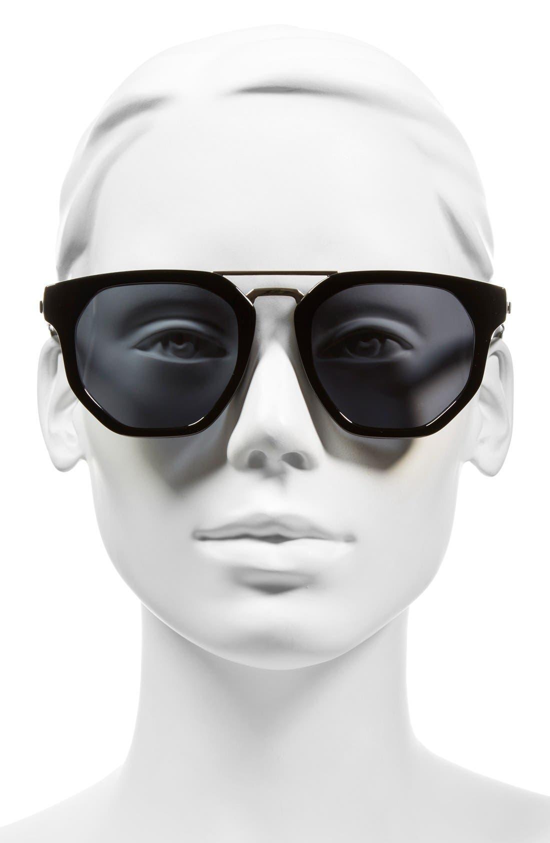 'Thunderdome' 52mm Polarized Sunglasses,                             Alternate thumbnail 2, color,                             001