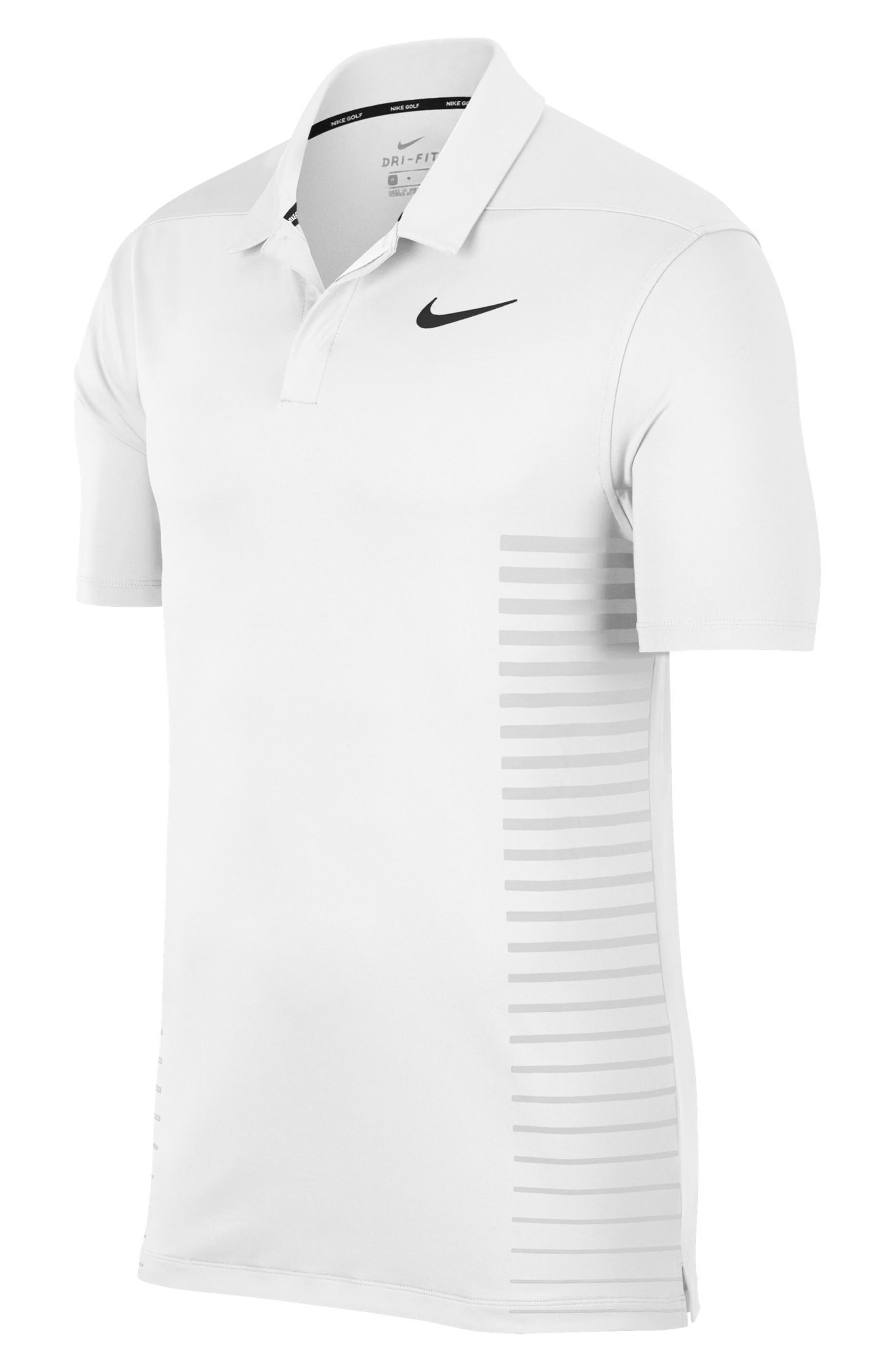 Dry Polo Shirt,                             Alternate thumbnail 3, color,                             WHITE/ BLACK/ SILVER