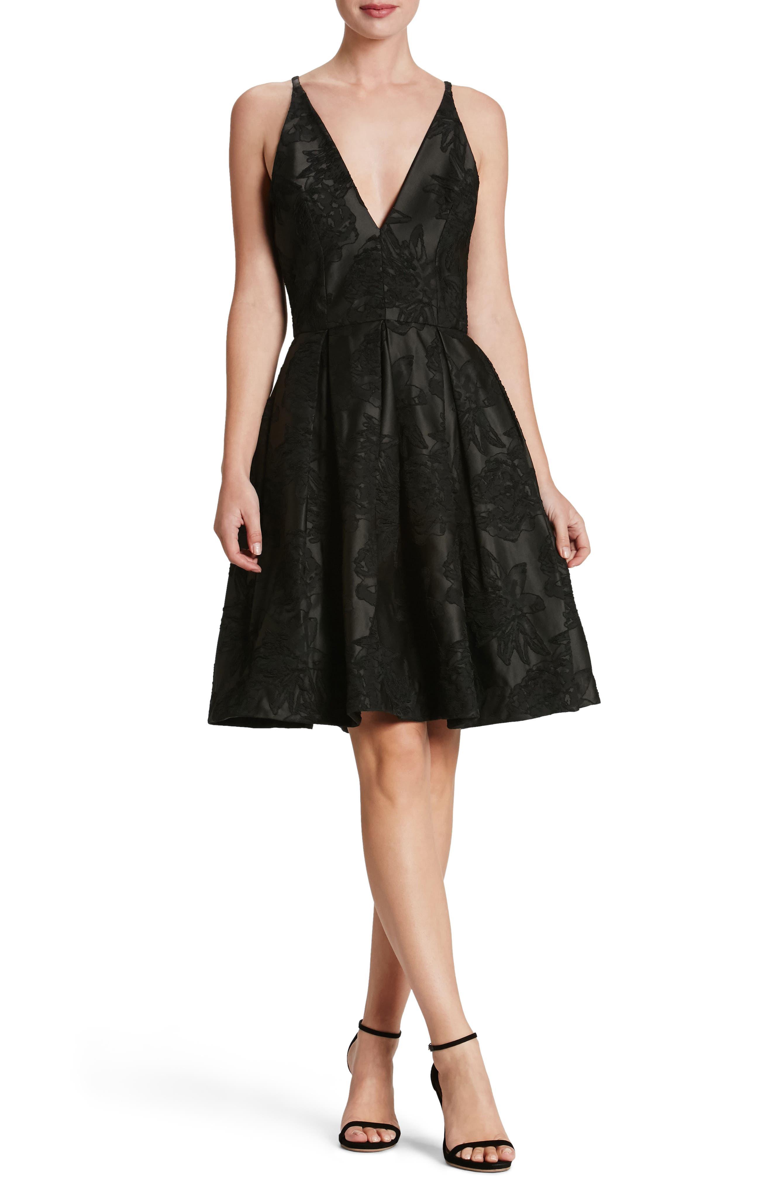 Collette Fit & Flare Dress,                             Main thumbnail 1, color,