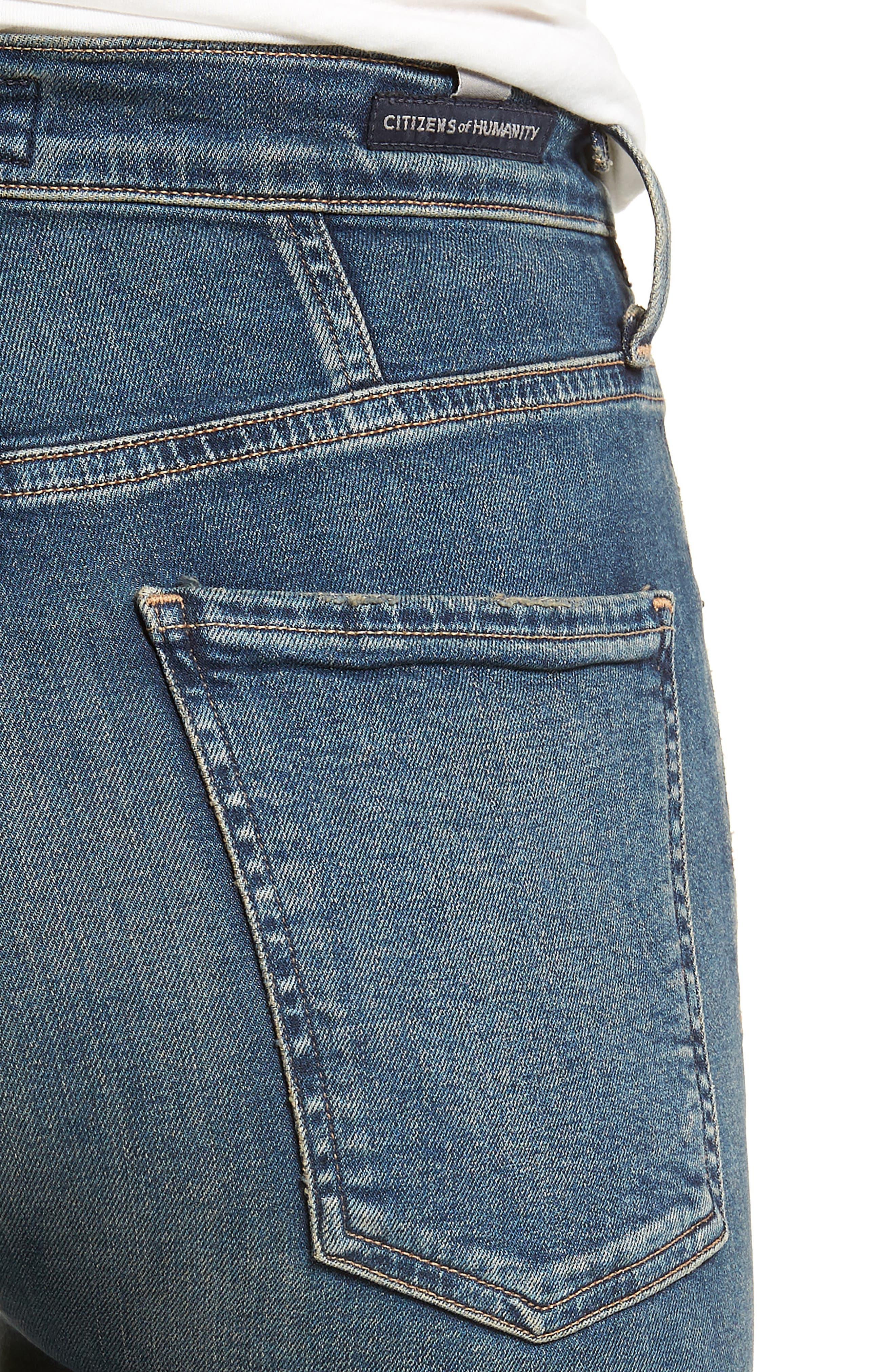 Chrissy High Waist Skinny Jeans,                             Alternate thumbnail 4, color,                             407