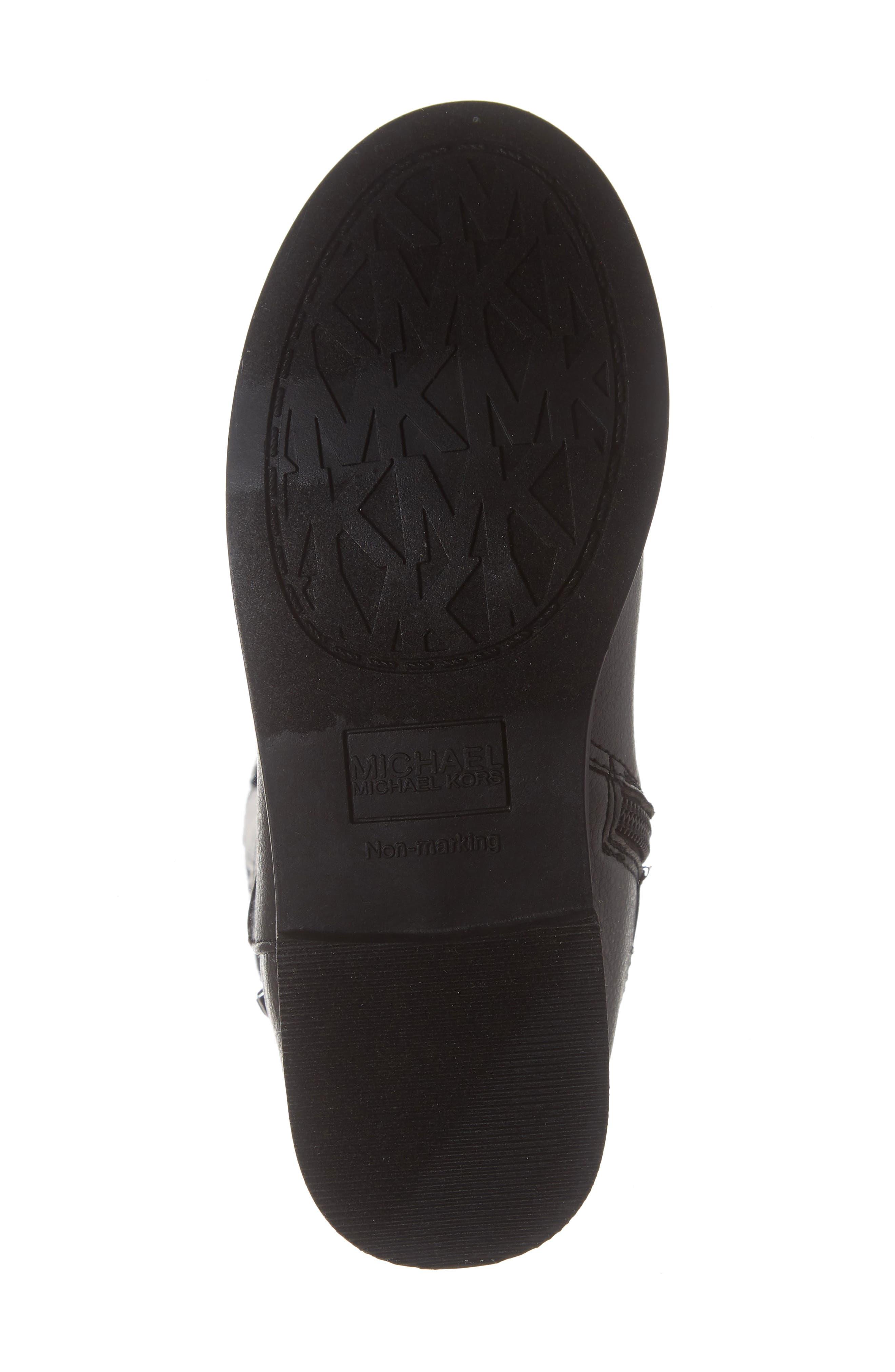 Emma Quinn Faux Leather Glitter Riding Boot,                             Alternate thumbnail 6, color,                             BLACK
