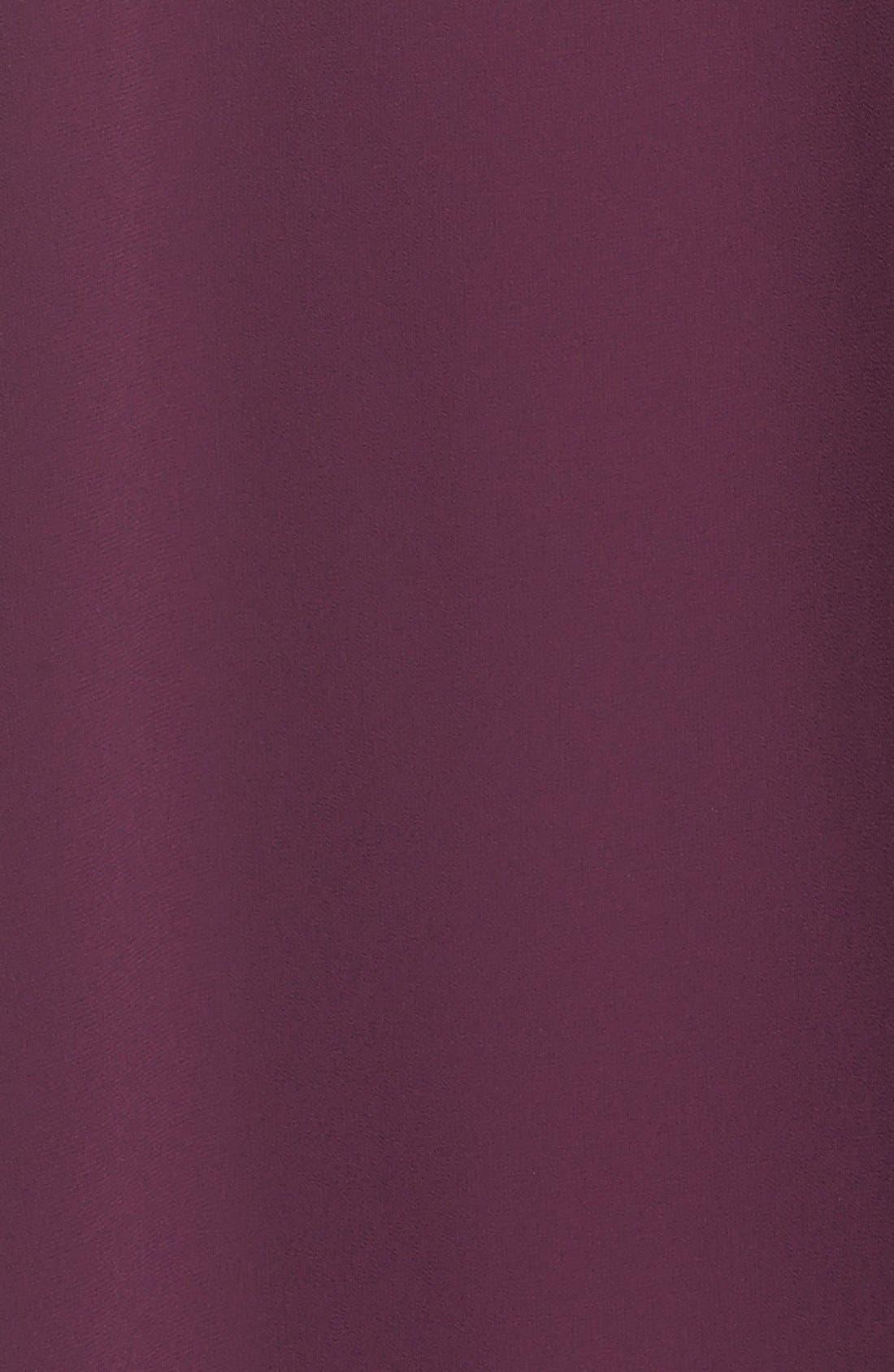 Mock Neck Chiffon Trapeze Dress,                             Alternate thumbnail 18, color,