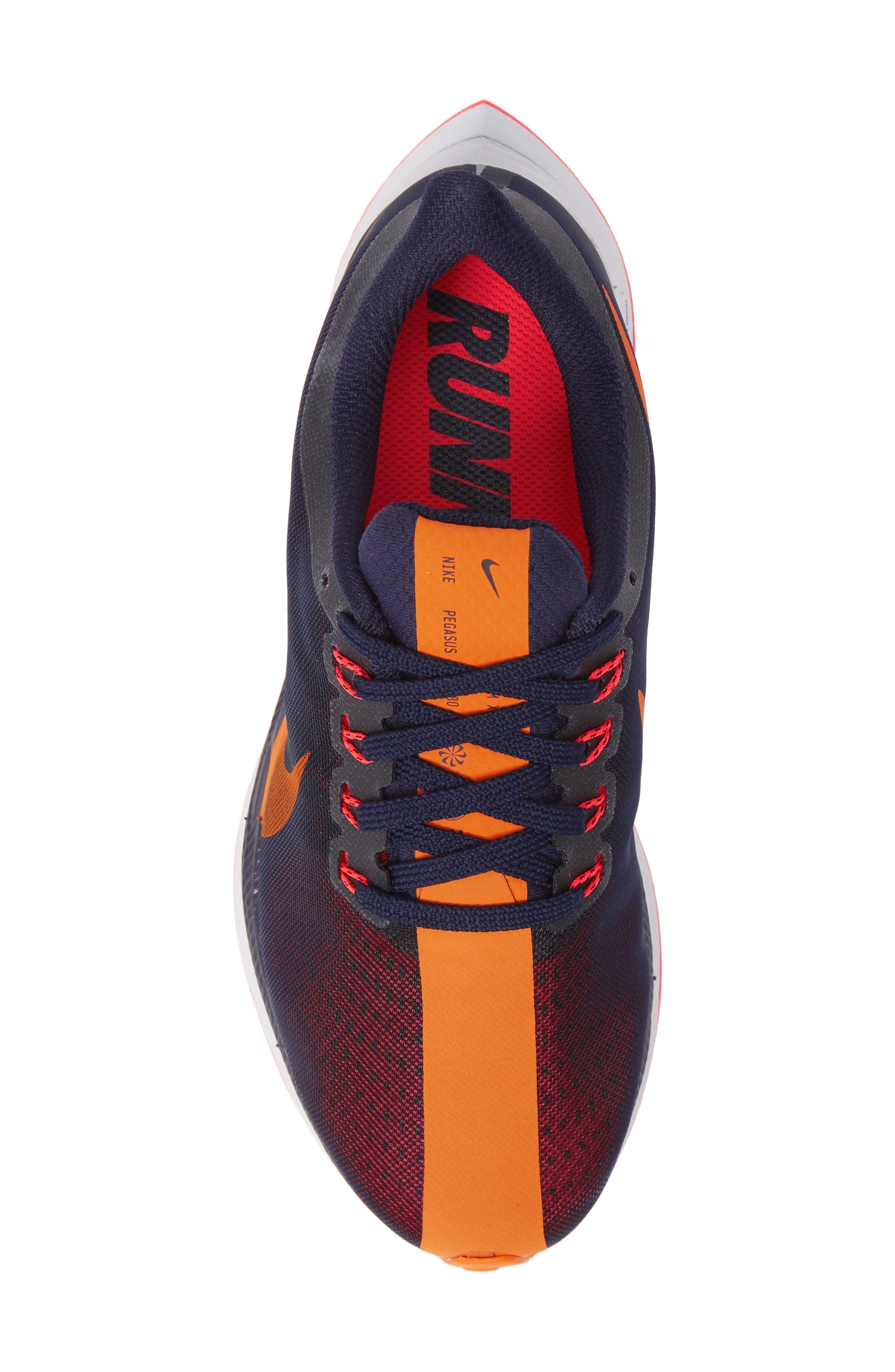 Zoom Pegasus 35 Turbo Running Shoe,                             Alternate thumbnail 5, color,                             BLACKENED BLUE/ CRIMSON/ BLACK