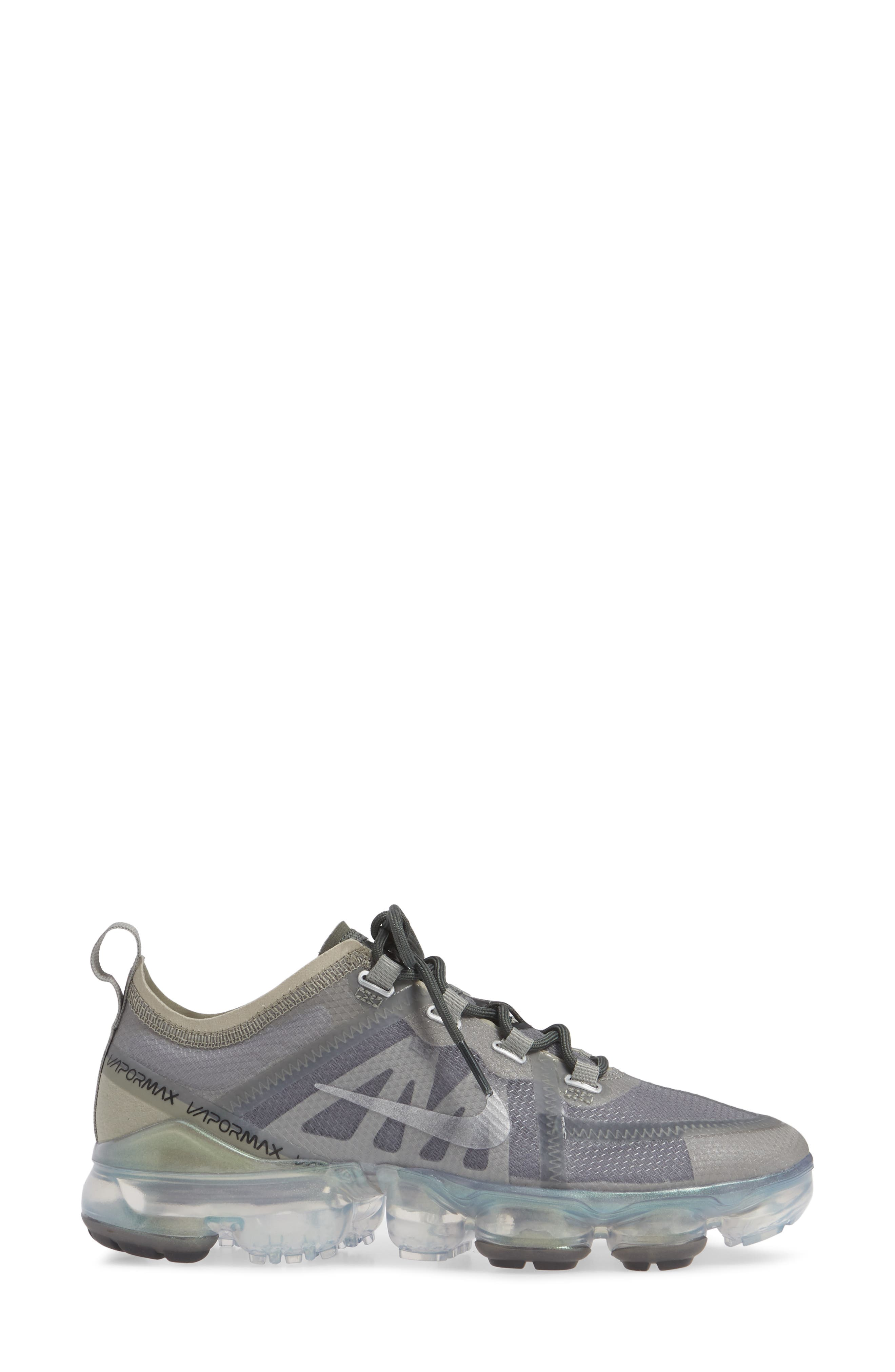 NIKE,                             Air VaporMax 2019 Running Shoe,                             Alternate thumbnail 3, color,                             MINERAL SPRUCE/ SILVER