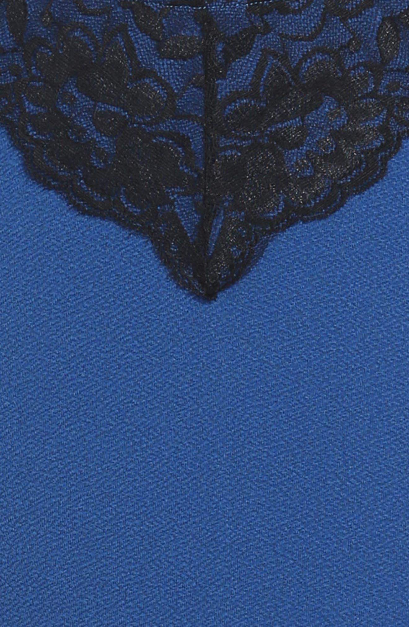 Lace Trim Piqué Dress,                             Alternate thumbnail 3, color,                             406