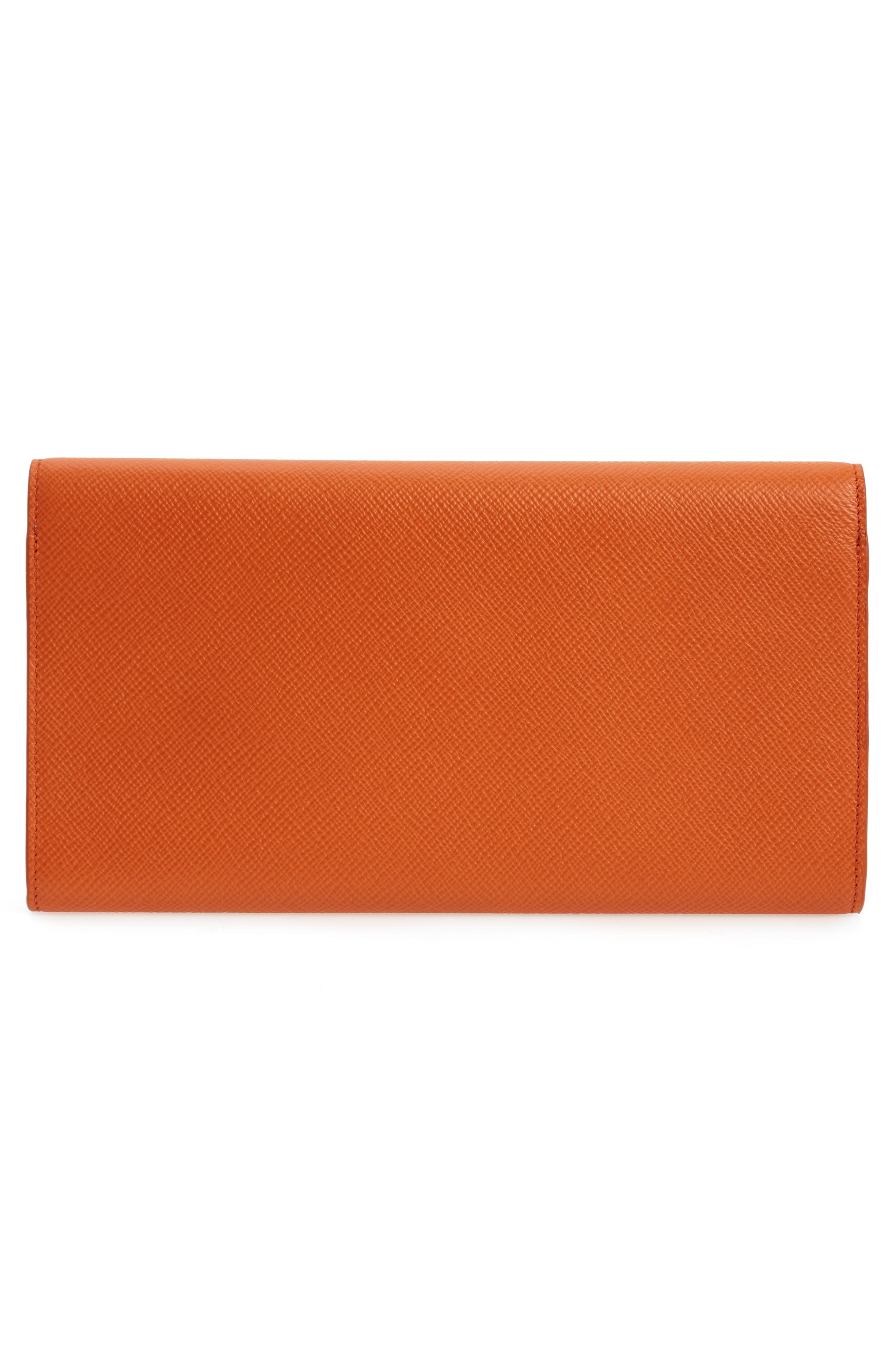 Panama Marshall Calfskin Leather Travel Wallet,                             Alternate thumbnail 3, color,                             800
